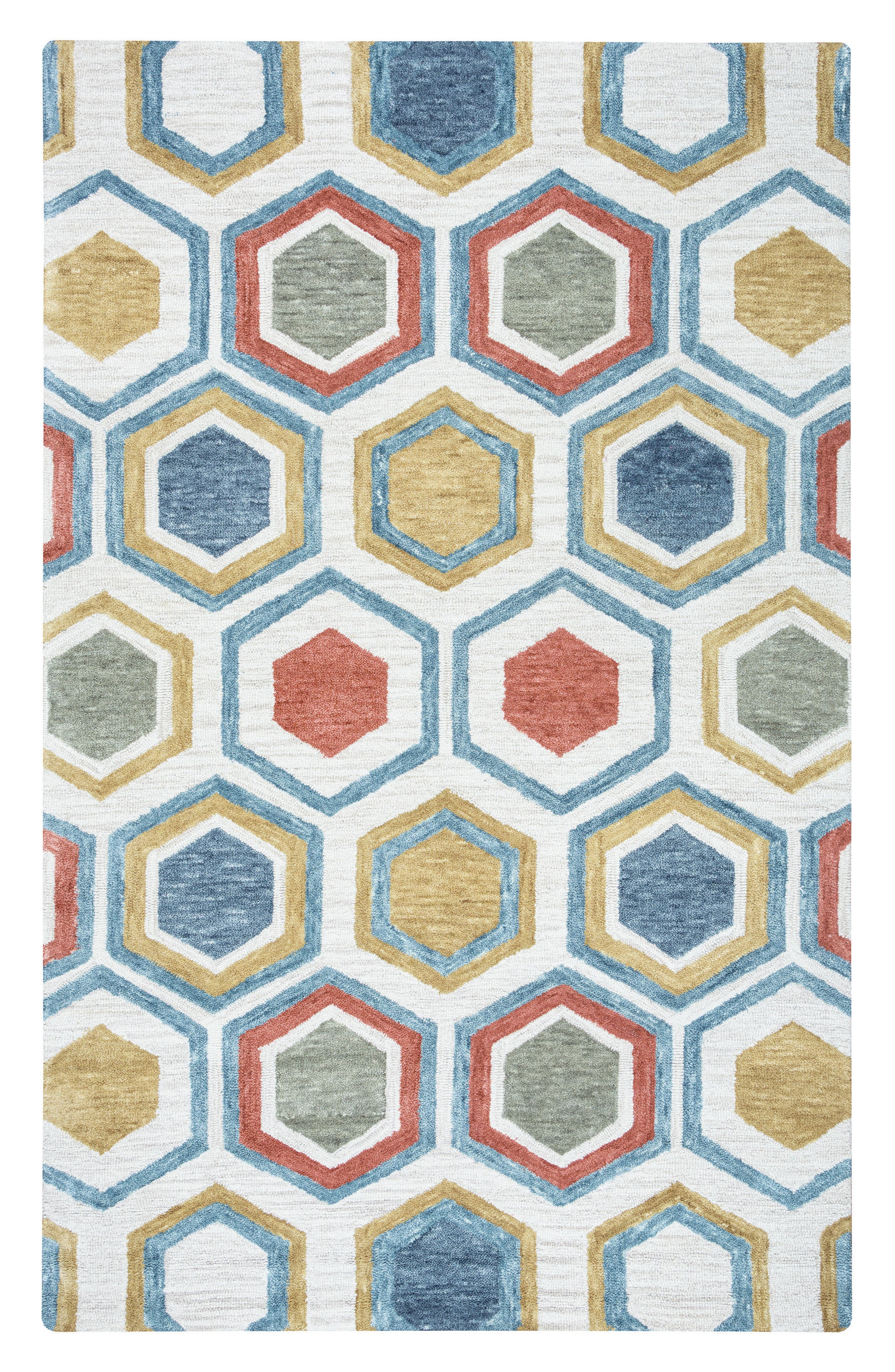 'Lancaster Geometric' Hand Tufted Wool Area Rug,                             Main thumbnail 1, color,                             020