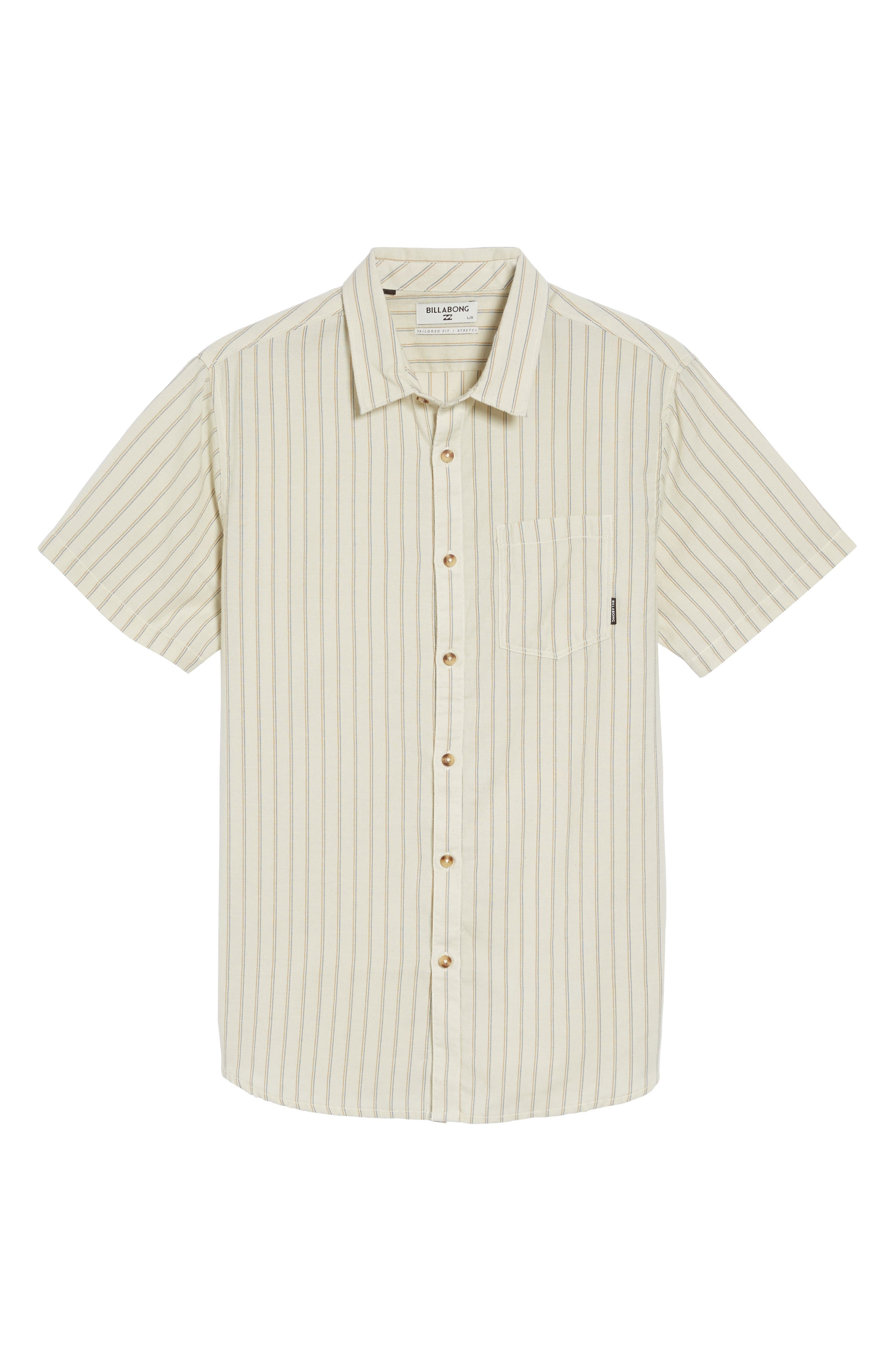 Kelso Tailored Fit Stripe Shirt,                             Alternate thumbnail 6, color,