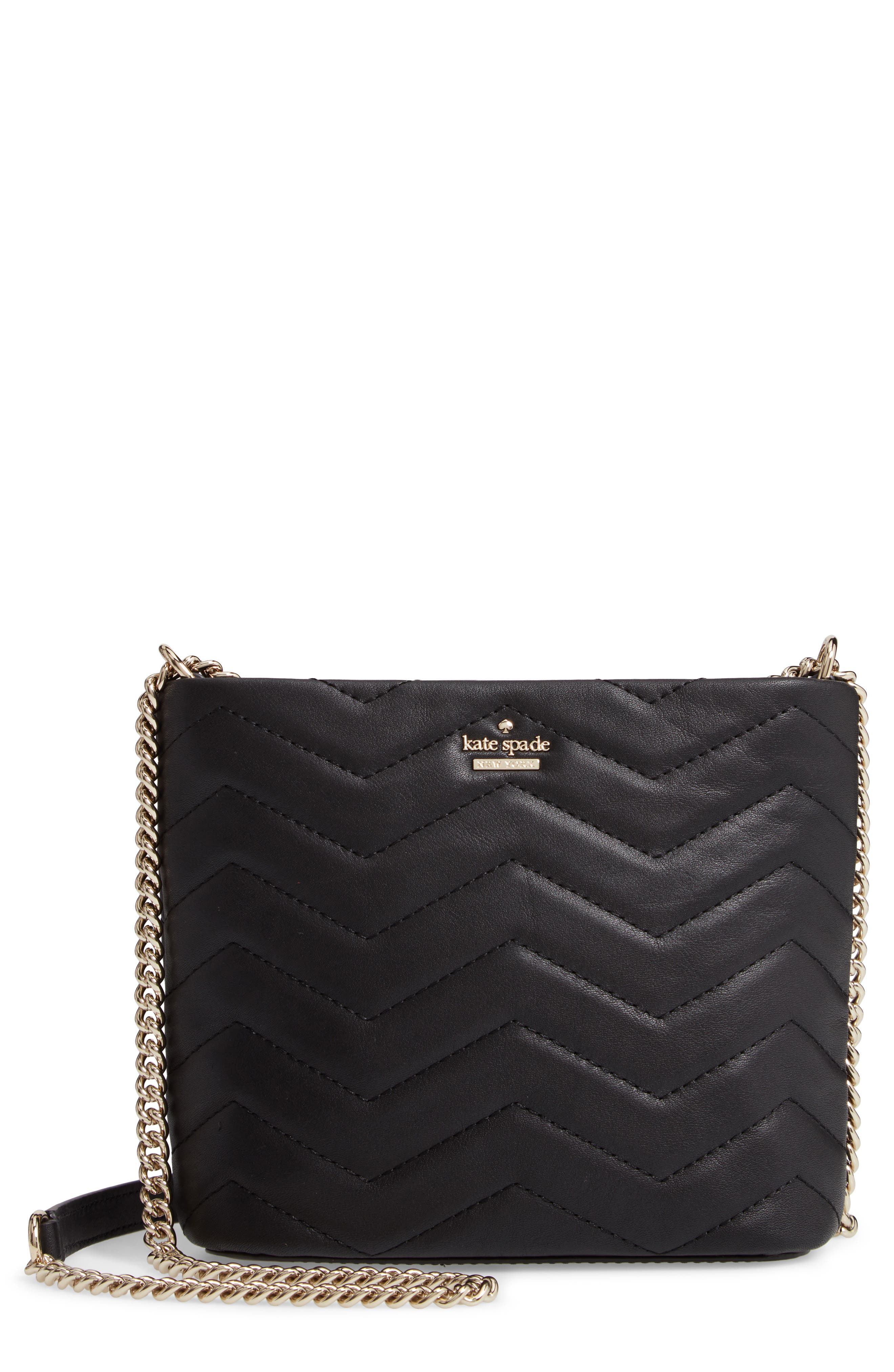 reese park - ellery leather crossbody bag,                         Main,                         color, BLACK
