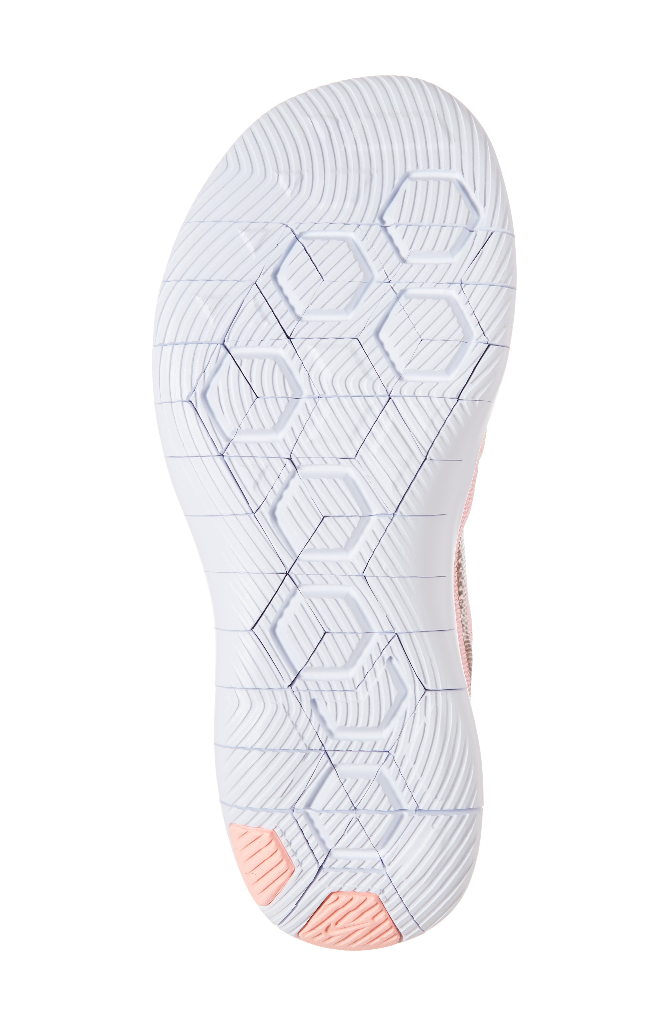 Flex Contact Running Shoe,                             Alternate thumbnail 6, color,                             ROSE GOLD/ STORM PINK