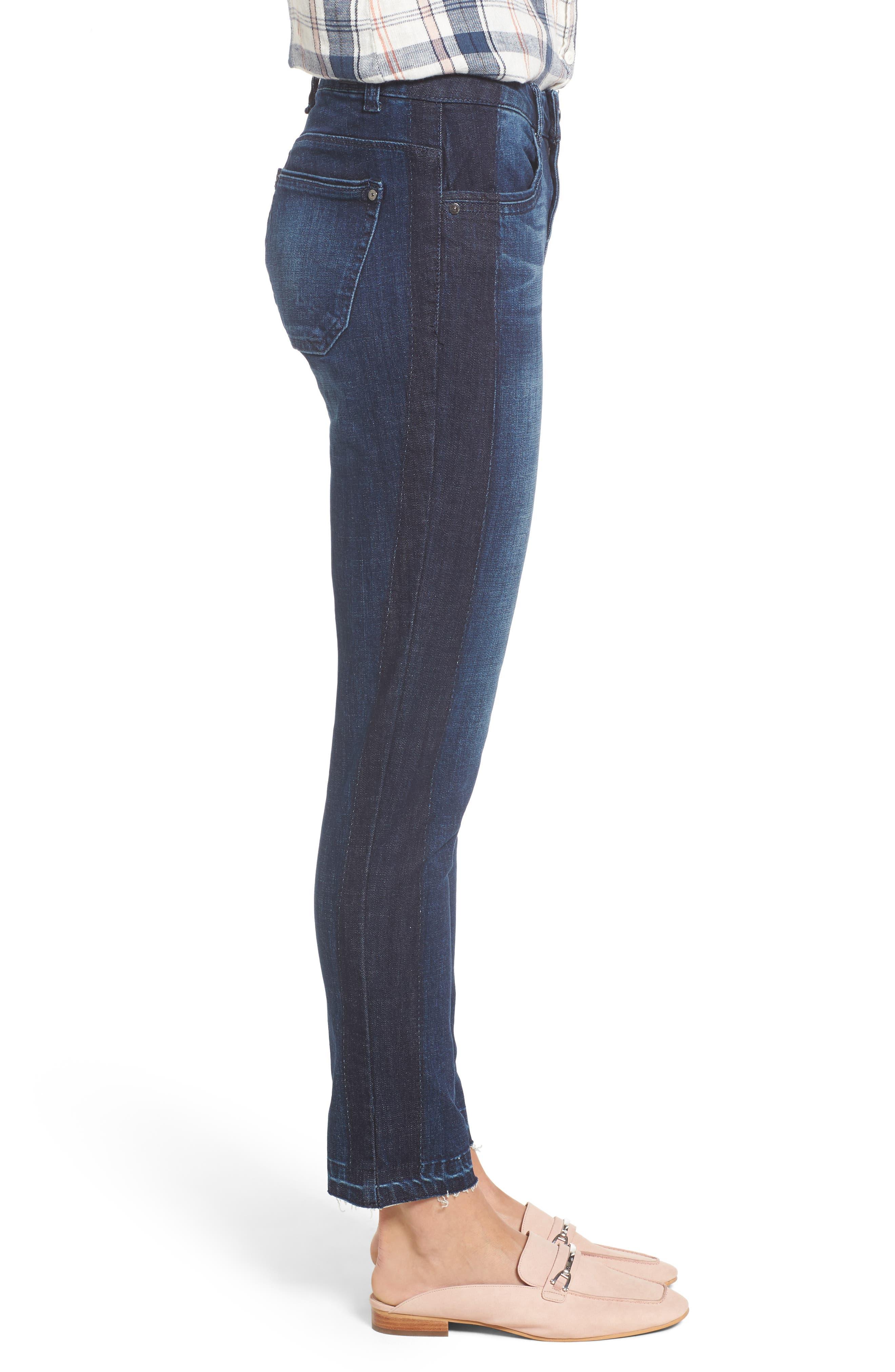 Tuxedo Stripe Skinny Jeans,                             Alternate thumbnail 6, color,