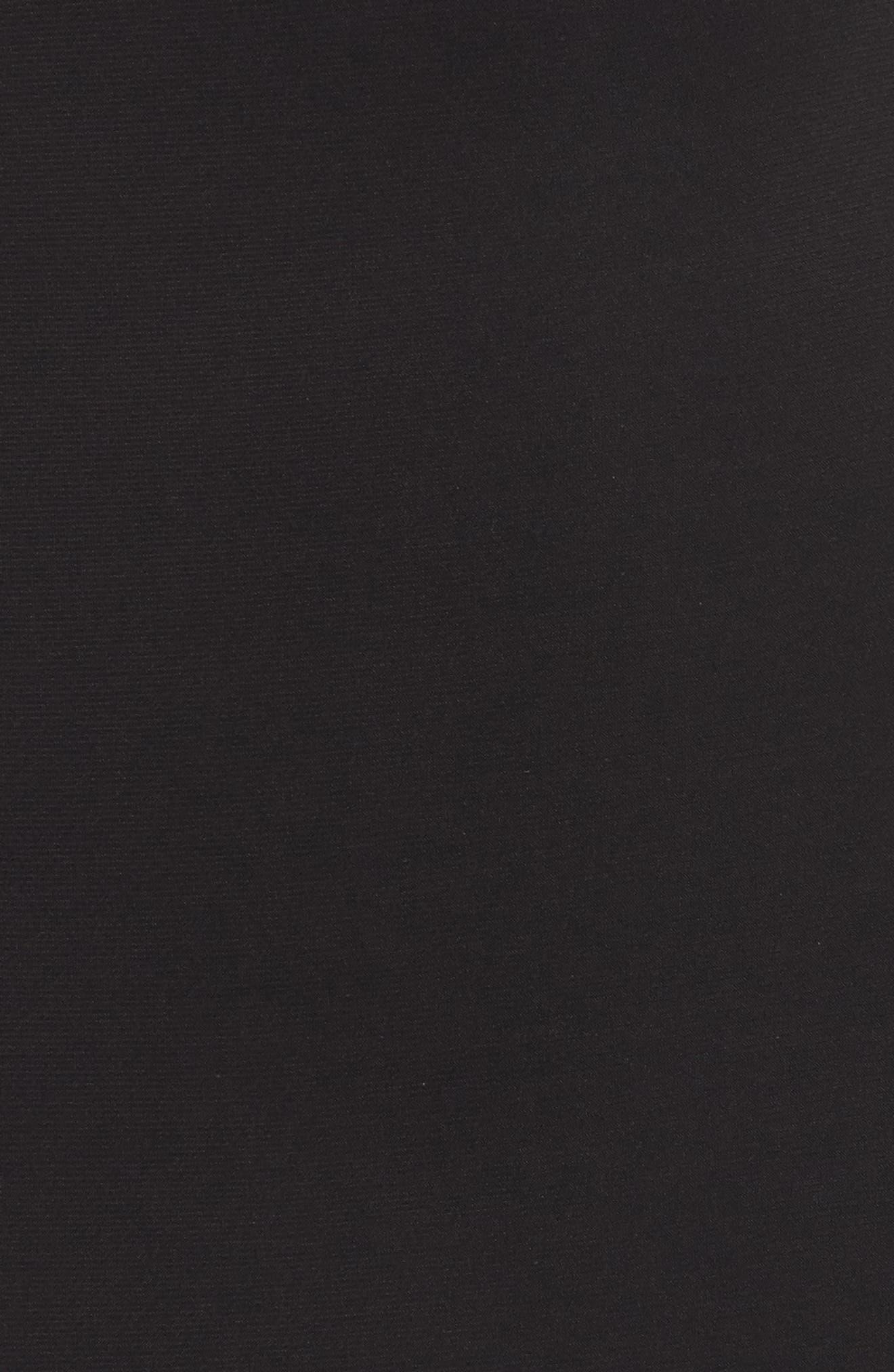 Beaded Mesh & Jersey Sheath Dress,                             Alternate thumbnail 5, color,                             009