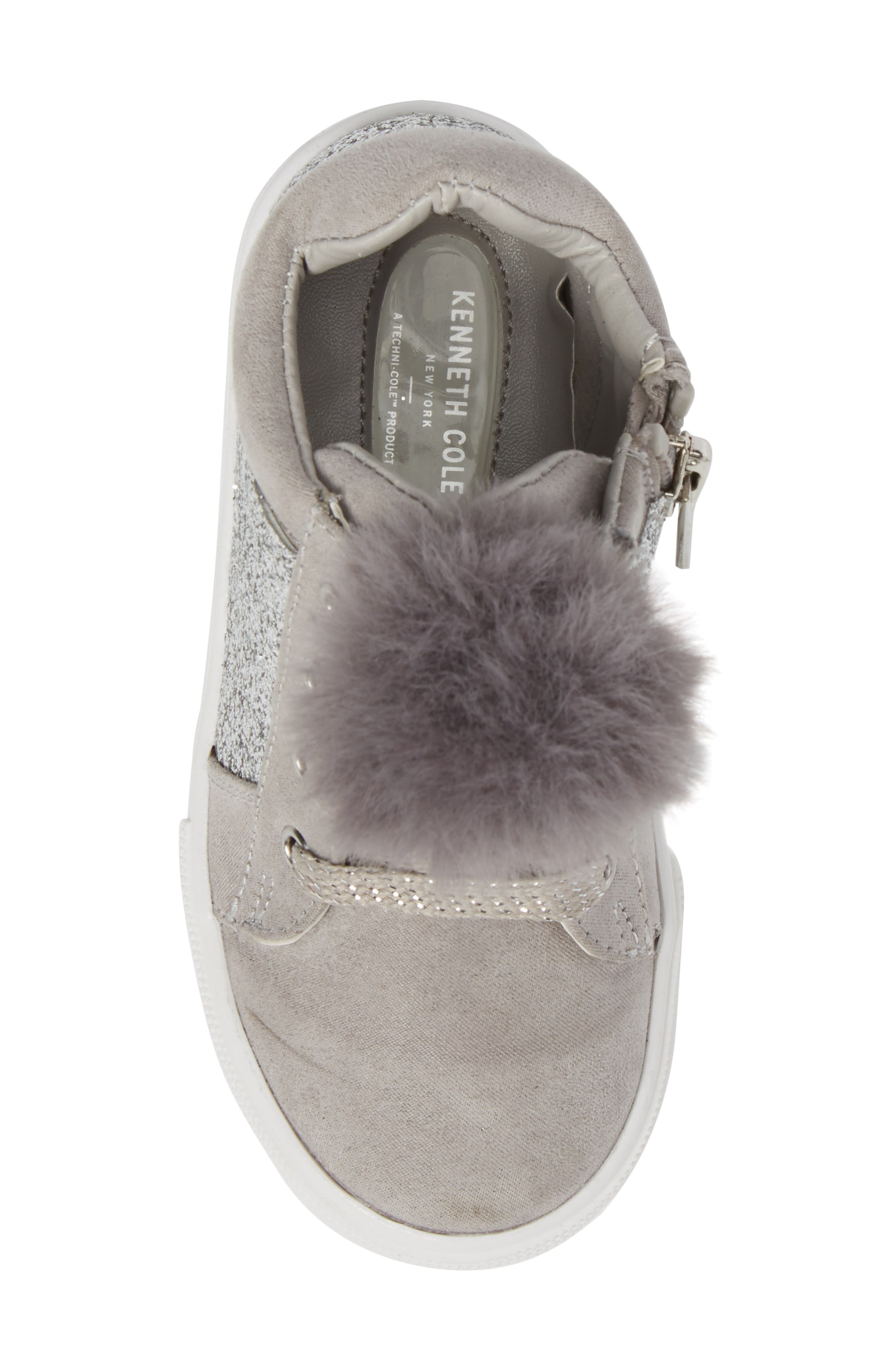 Kam Kid Faux Fur Glitter Sneaker,                             Alternate thumbnail 5, color,                             060