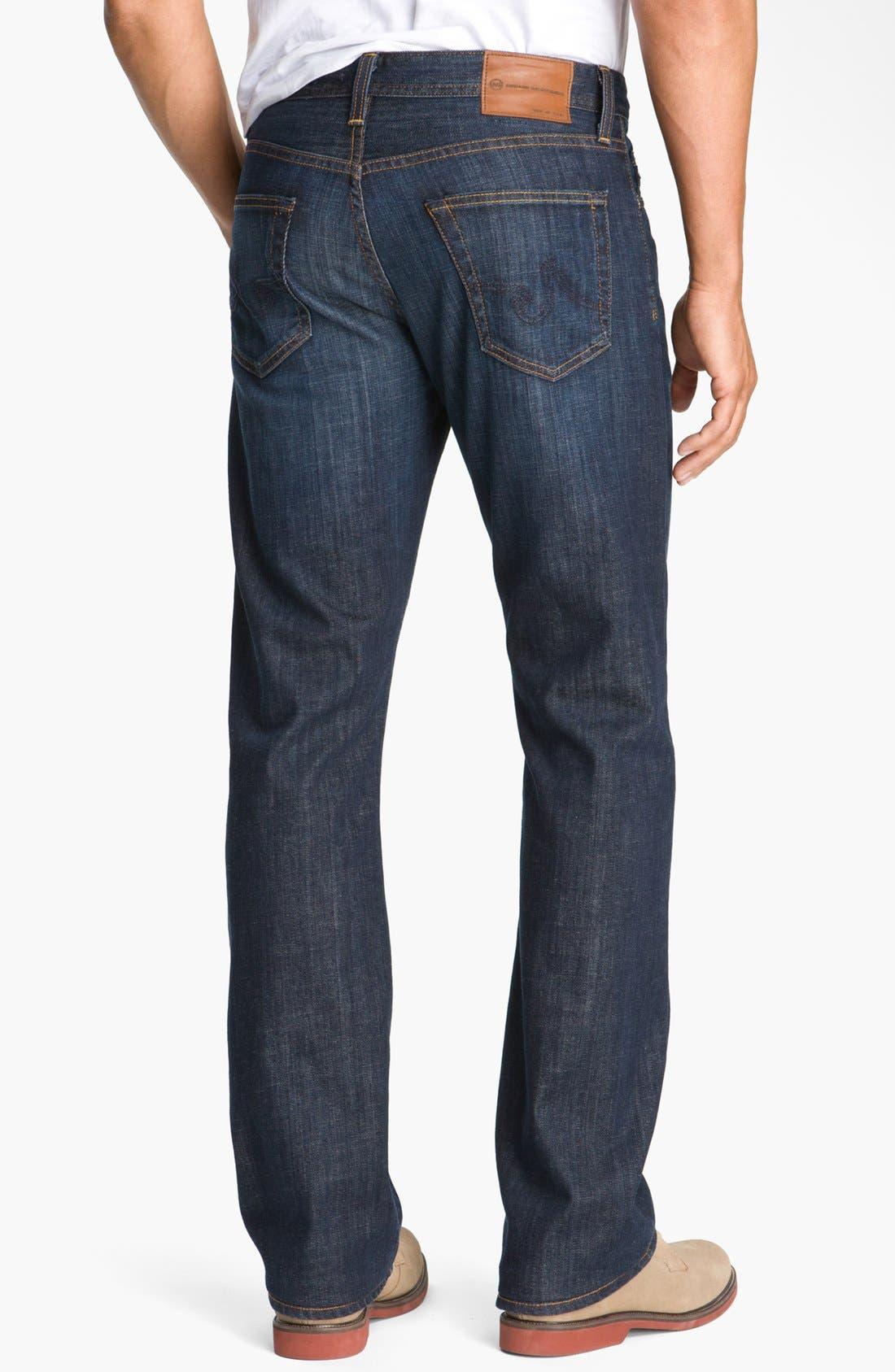 Protégé Straight Leg Jeans,                             Alternate thumbnail 6, color,                             HUNTS WASH