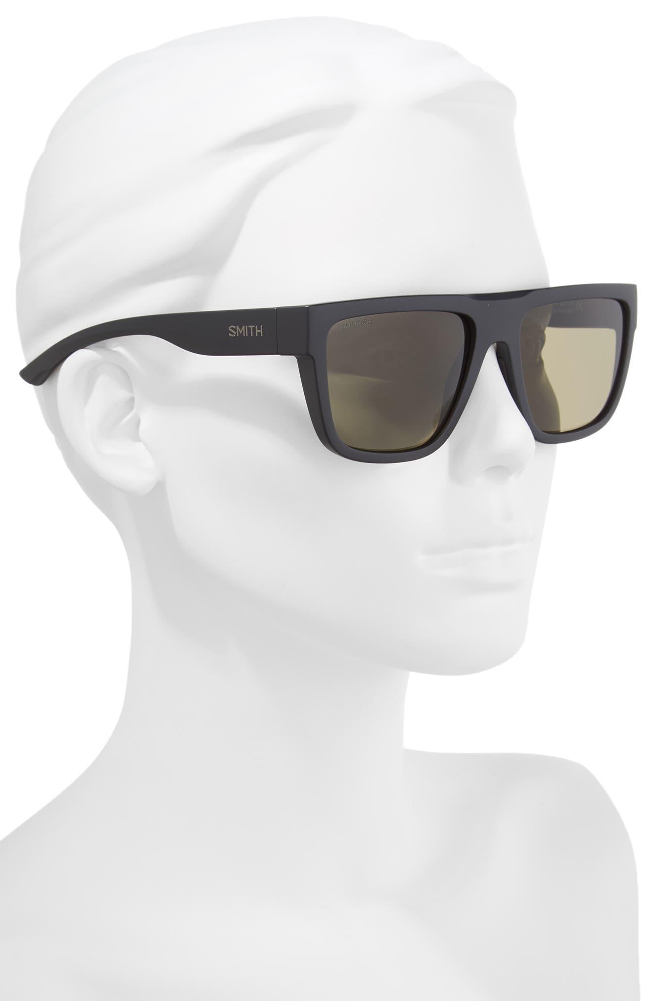 The Comeback 58mm ChromaPop<sup>™</sup> Square Sunglasses,                             Alternate thumbnail 2, color,                             MATTE BLACK