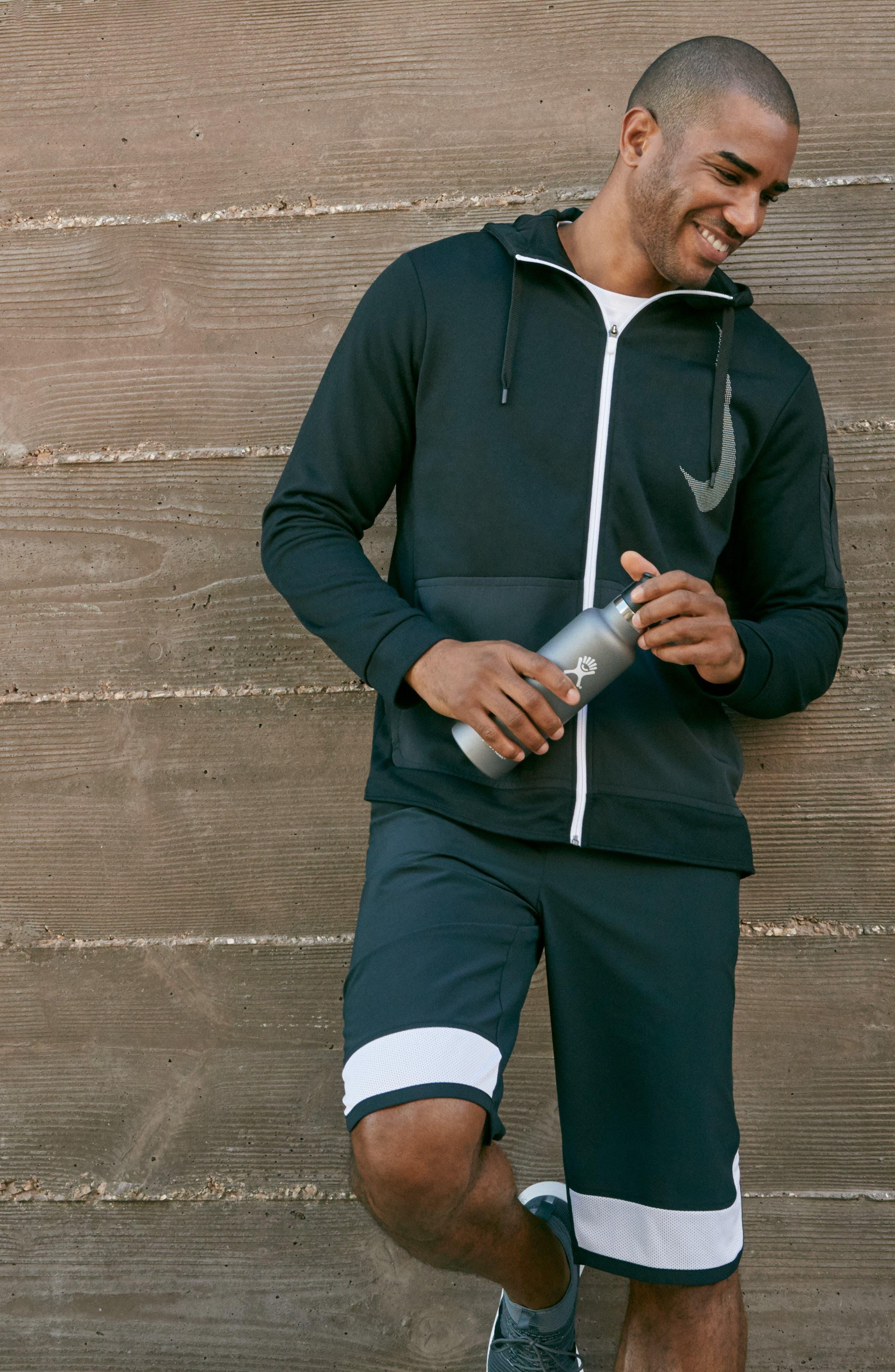 Training Flex PX Shorts,                             Alternate thumbnail 8, color,                             BLACK/ WHITE/ WHITE