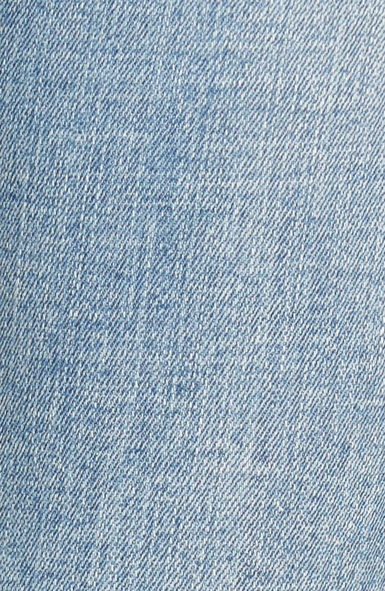 Ripped Knee Skinny Jeans,                             Alternate thumbnail 6, color,                             MEDIUM LIGHT