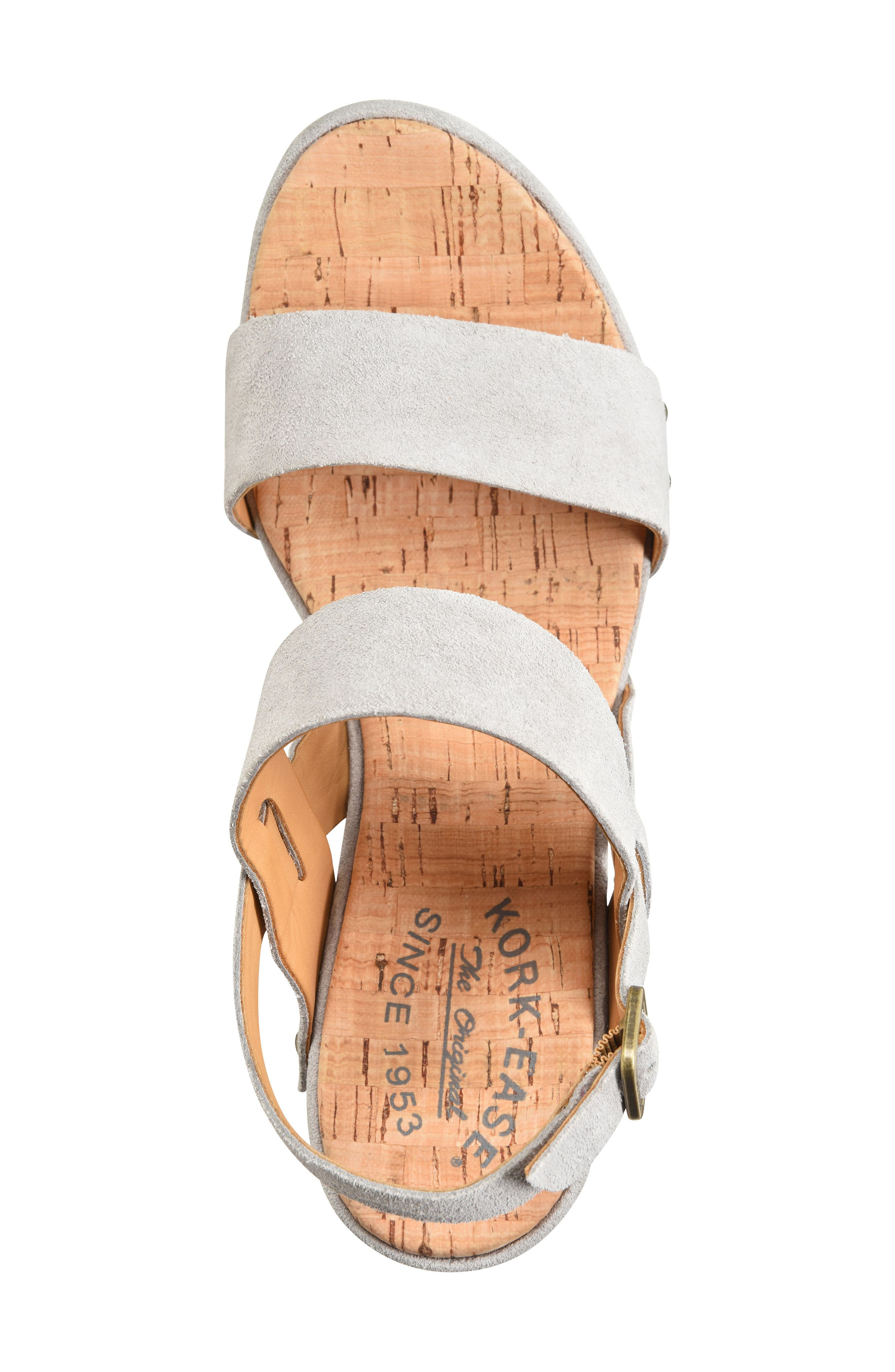Palmdale Platform Sandal,                             Alternate thumbnail 5, color,                             GREY SUEDE