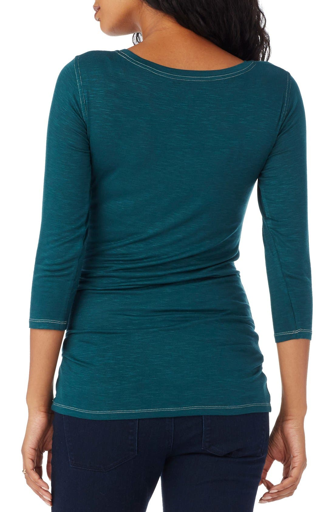 'Tribeca' Maternity Tee,                             Alternate thumbnail 5, color,                             EMERALD