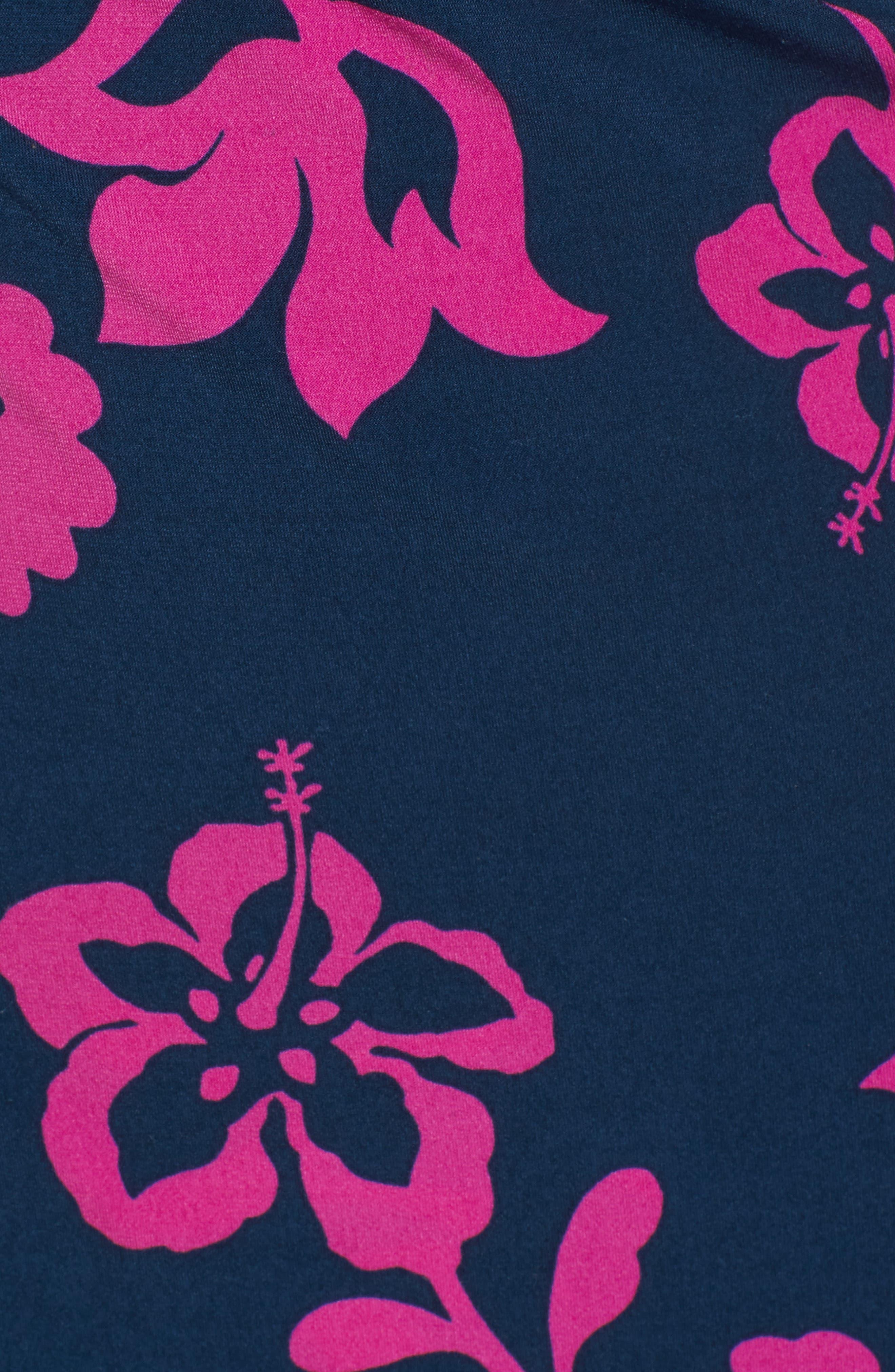 San Lucia Faux Wrap Midi Dress,                             Alternate thumbnail 5, color,                             OCEAN DEEP