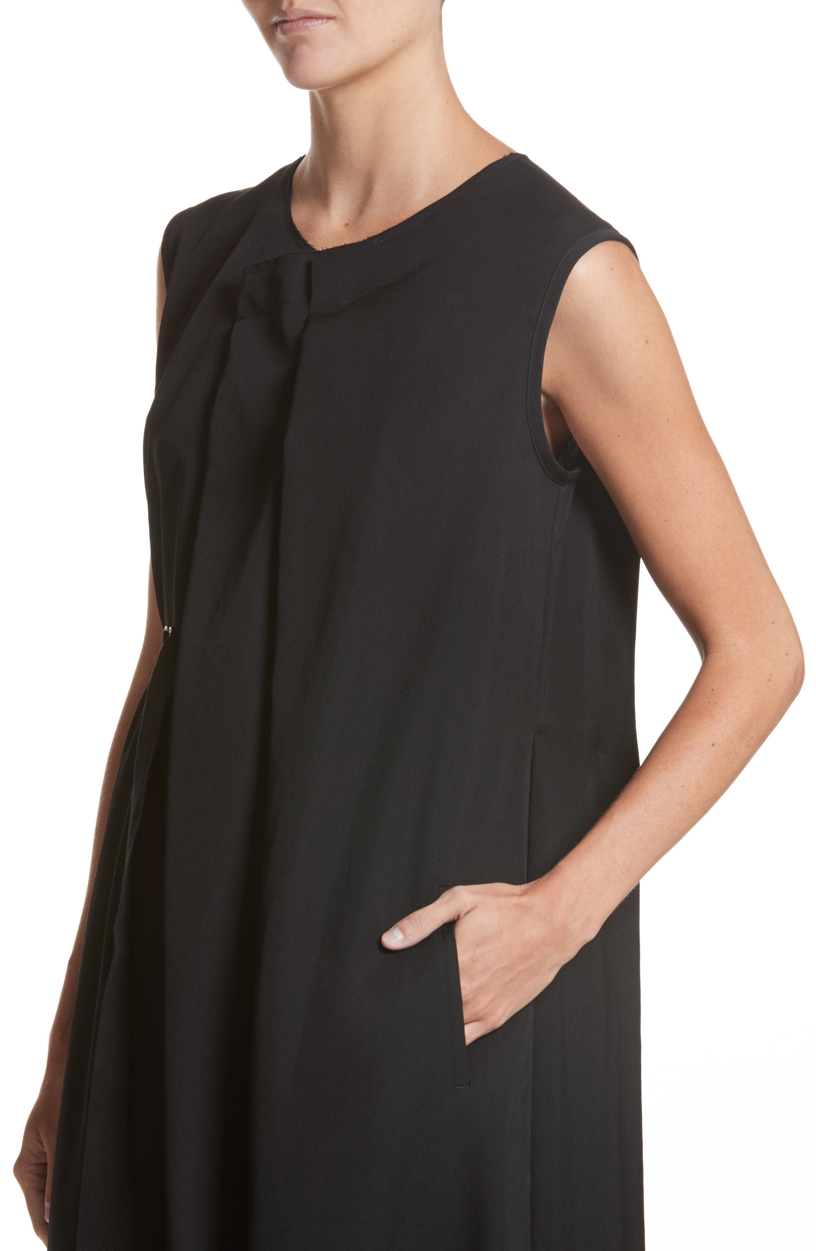 N-F Pleats Dress,                             Alternate thumbnail 4, color,                             001