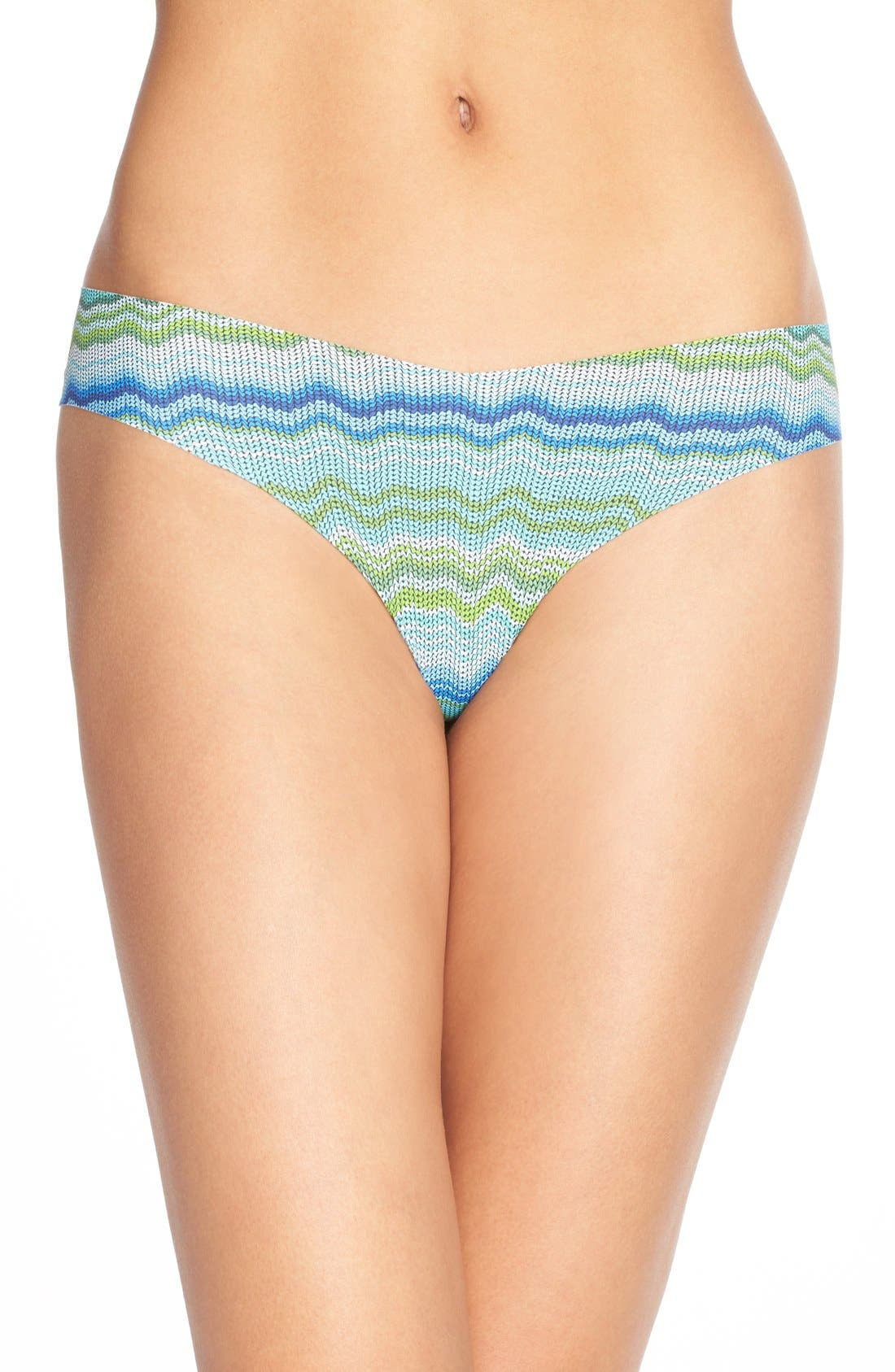 Print Microfiber Thong,                             Main thumbnail 60, color,