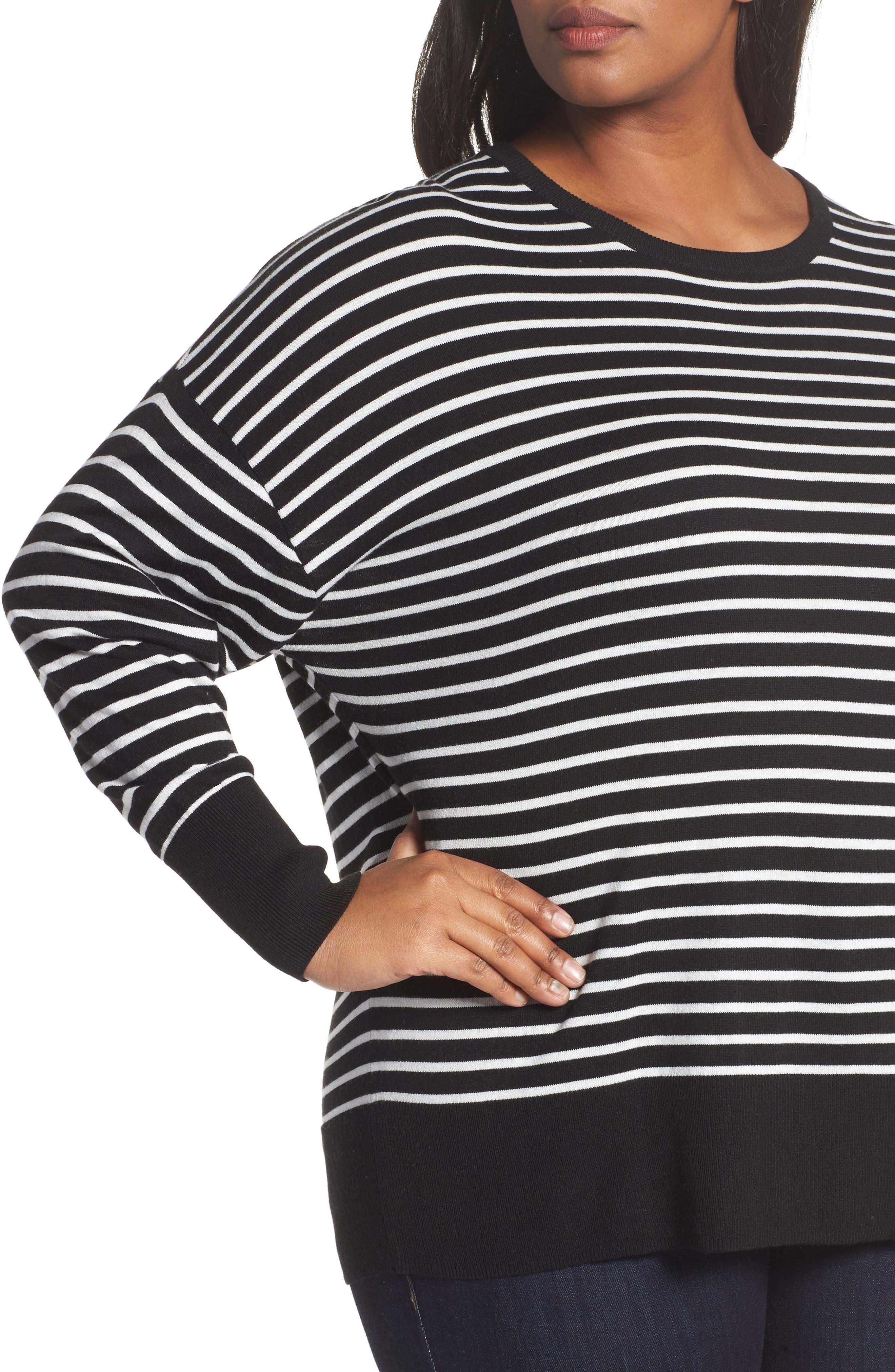 Dolman Sleeve Crewneck Sweater,                             Alternate thumbnail 4, color,                             002