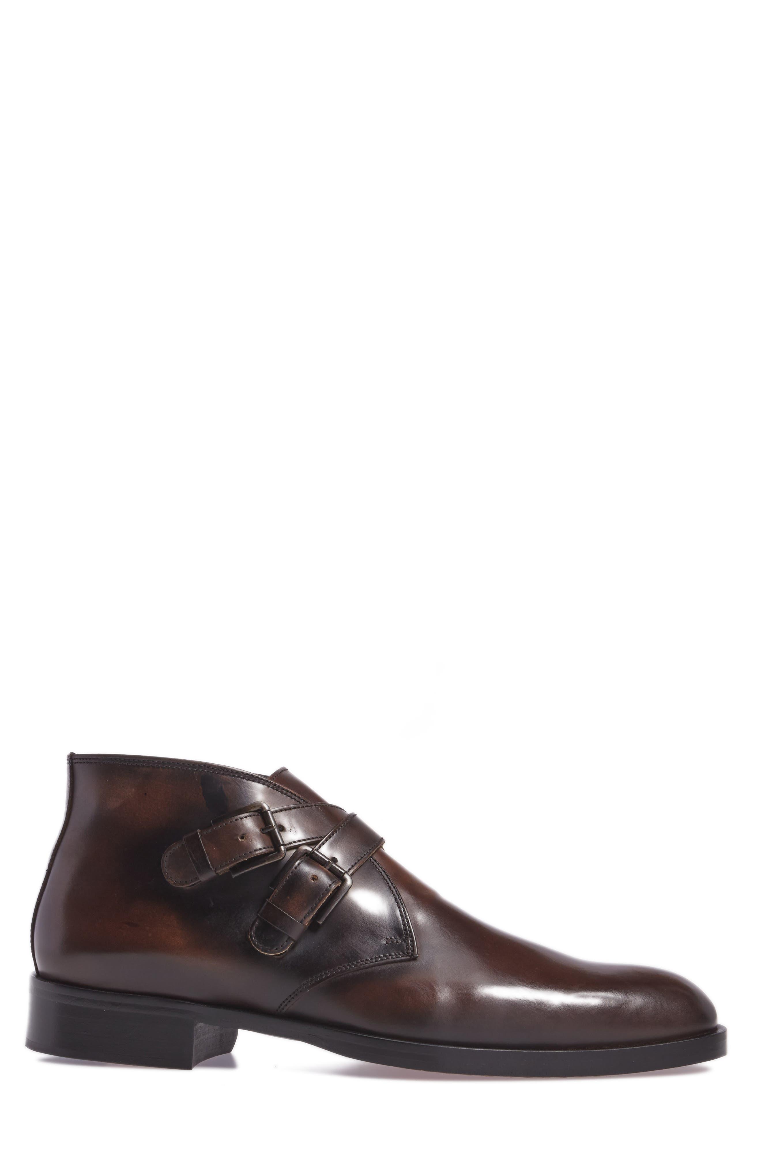 Donald J Pliner Zigor Double Monk Strap Boot,                             Alternate thumbnail 3, color,                             200