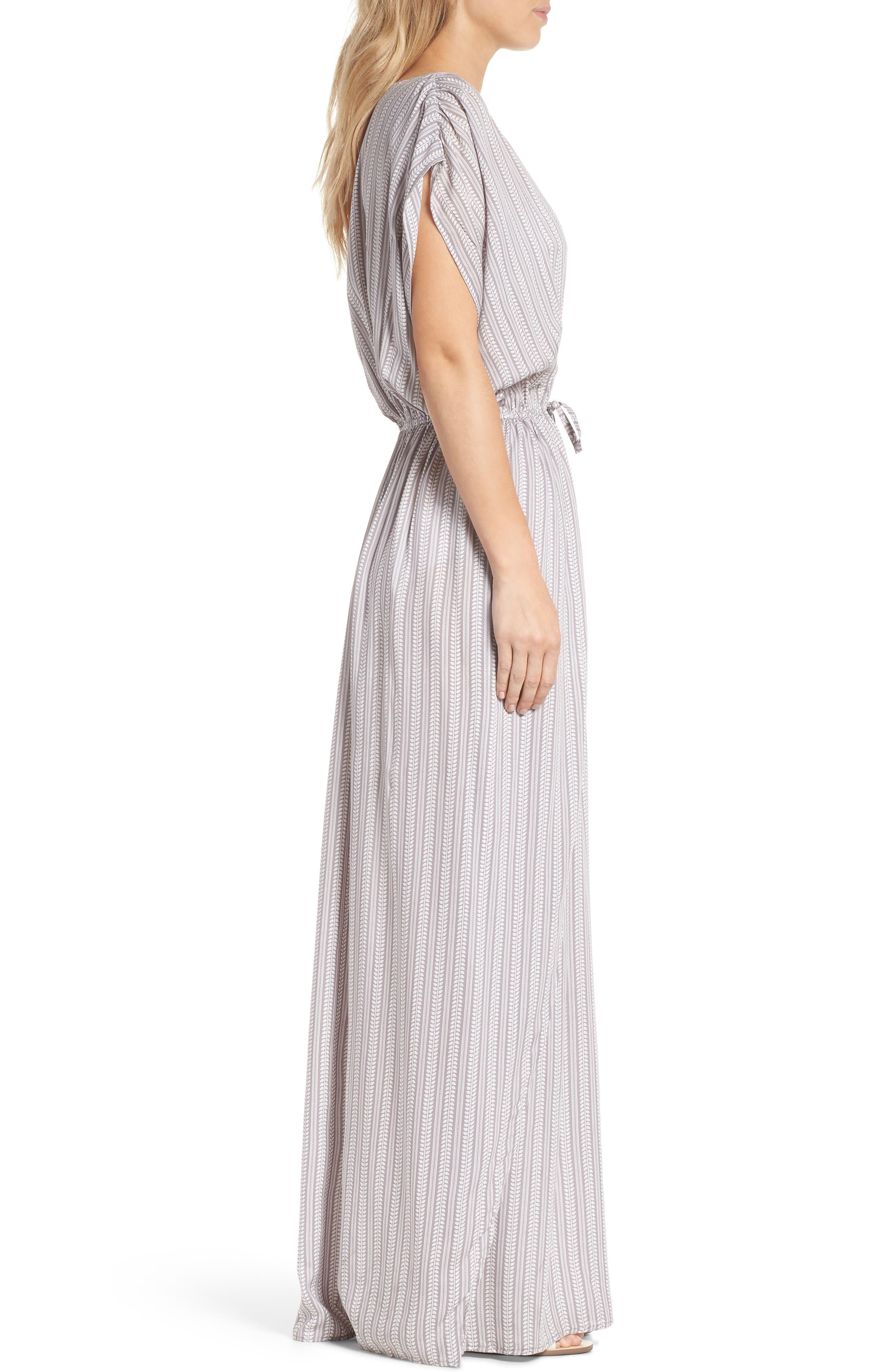 Wrap Maxi Cover-Up Dress,                             Alternate thumbnail 5, color,