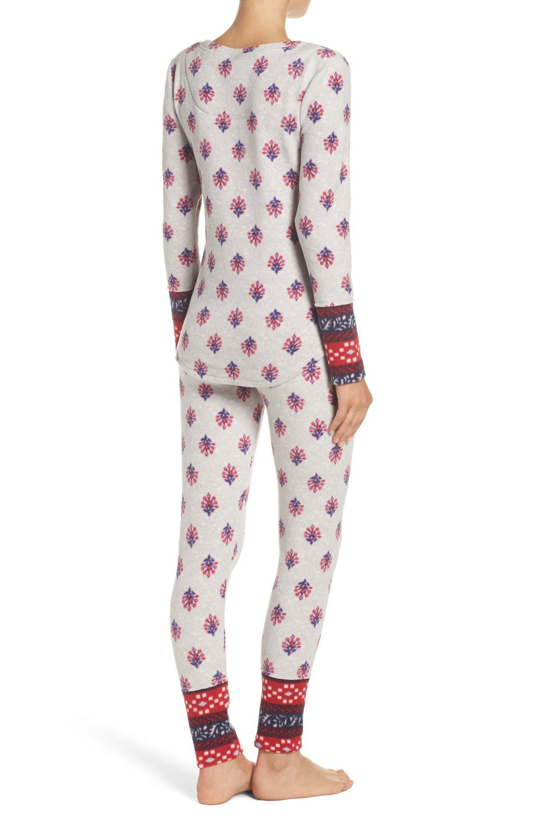 Print Fleece Pajamas,                             Alternate thumbnail 4, color,                             040