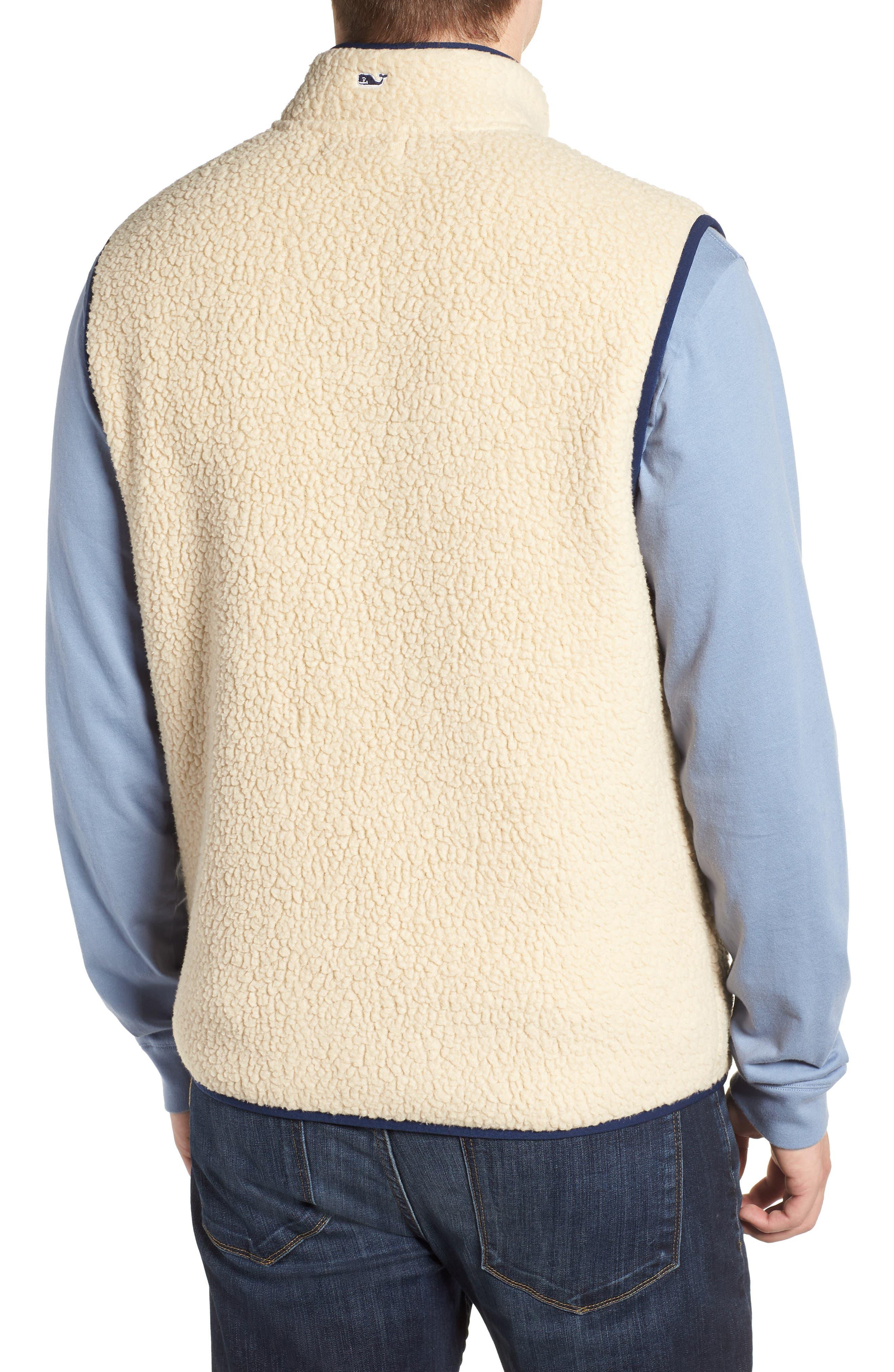 Harbor Regular Fit Fleece Vest,                             Alternate thumbnail 2, color,                             CAMEL