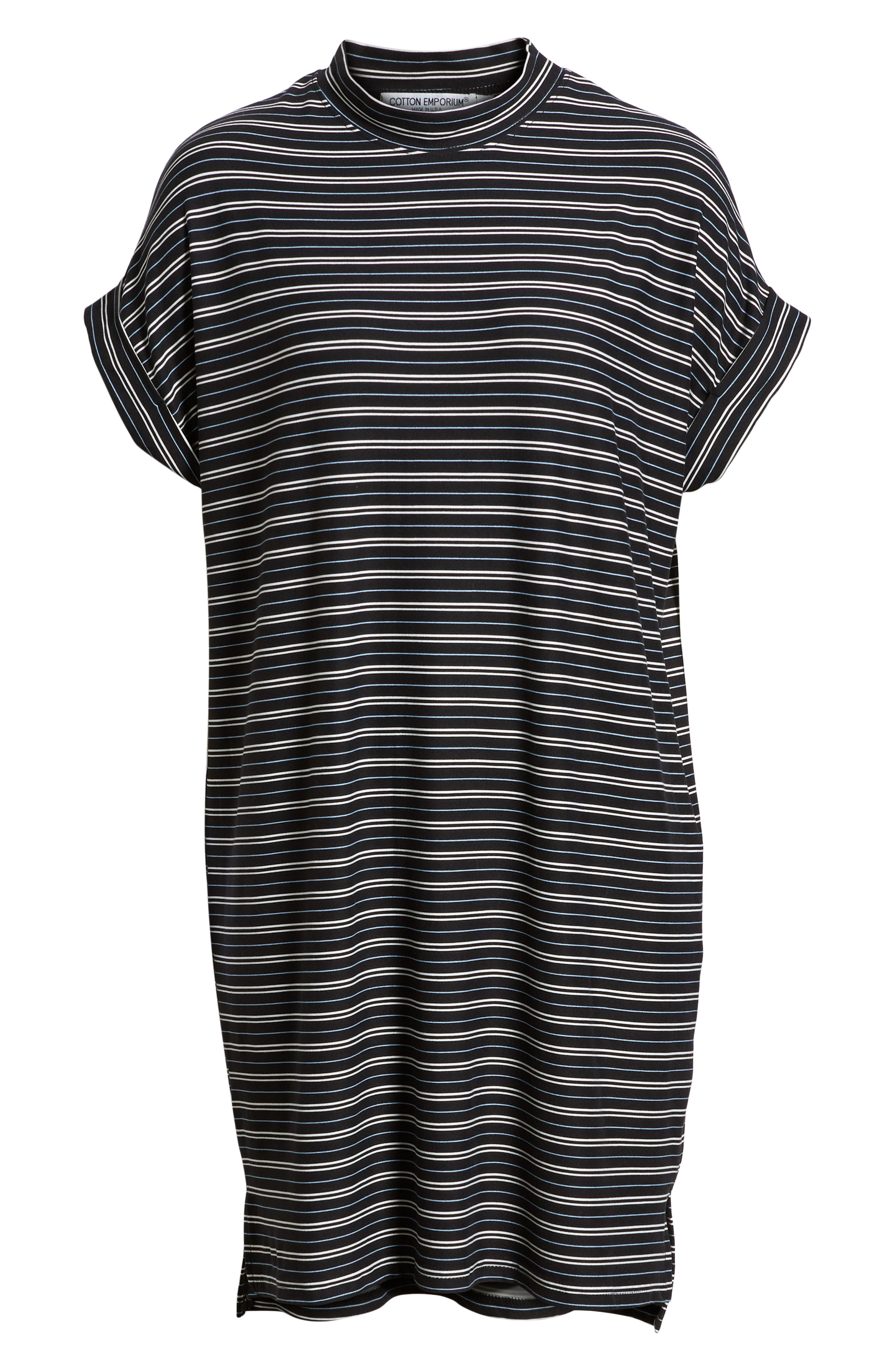 Stripe Sneaker Dress,                             Alternate thumbnail 7, color,                             001