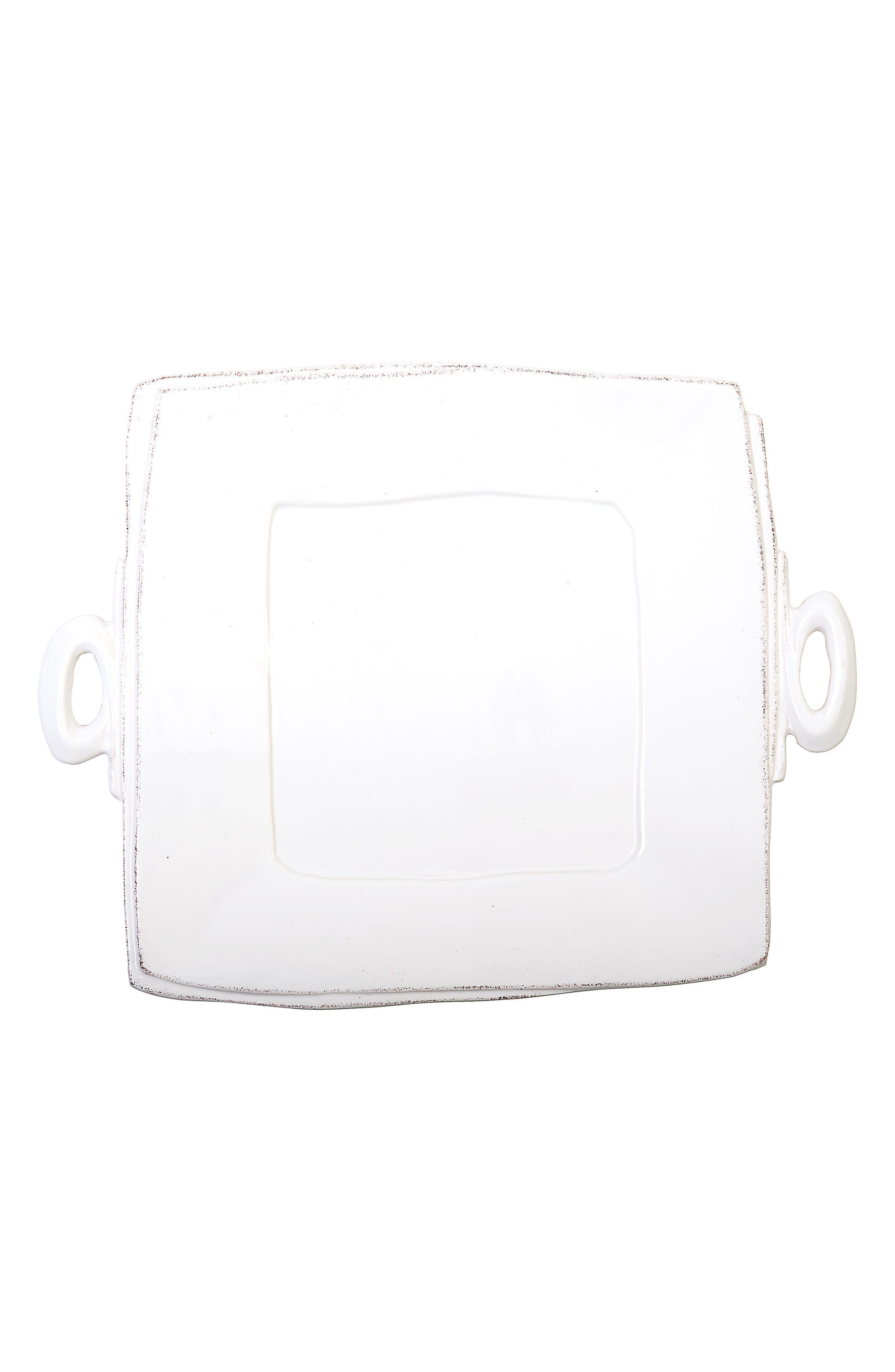 Lastra Square Platter,                             Main thumbnail 1, color,                             WHITE