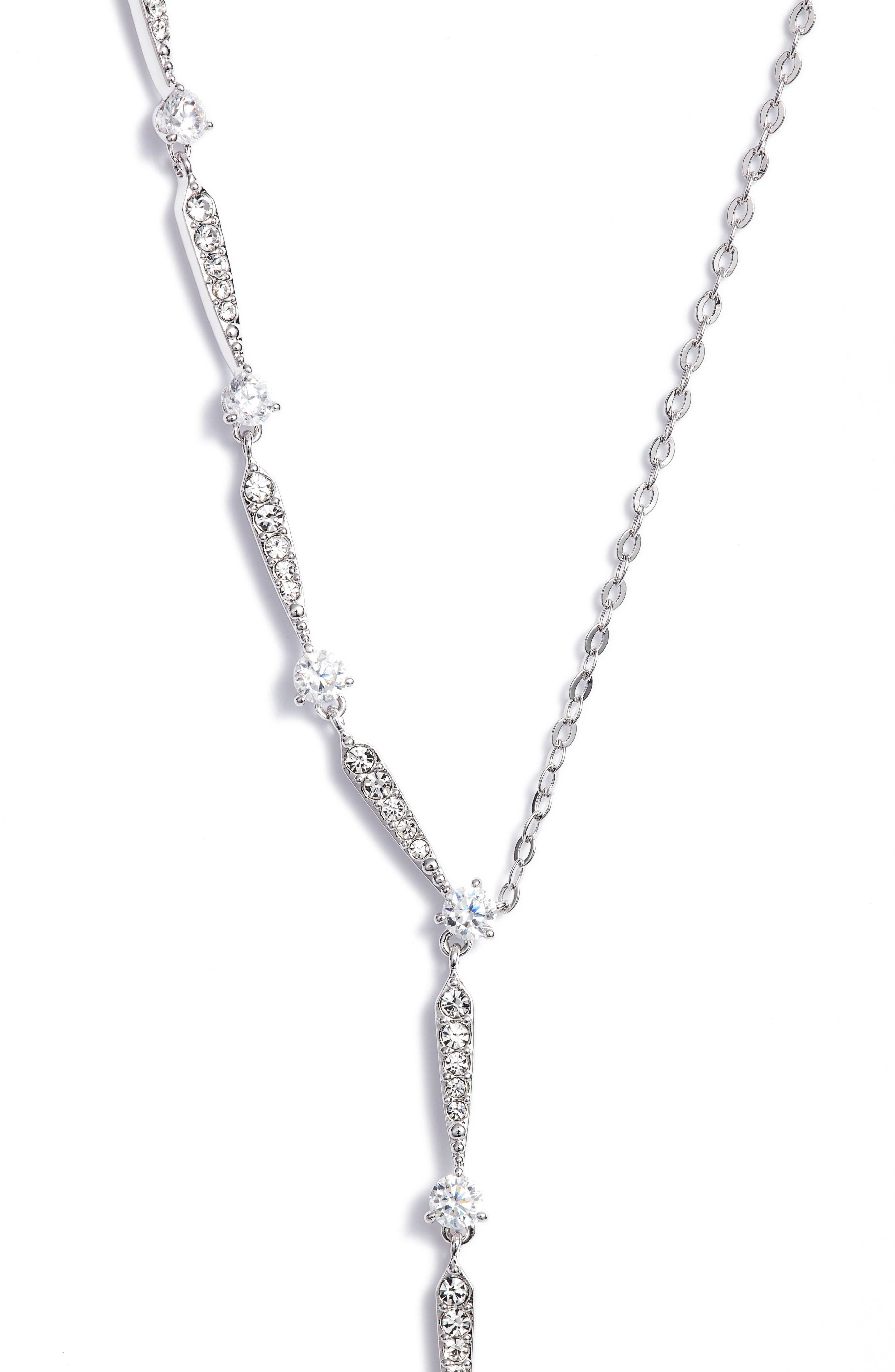 Cubic Zirconia Y-Shape Necklace,                             Main thumbnail 1, color,                             040