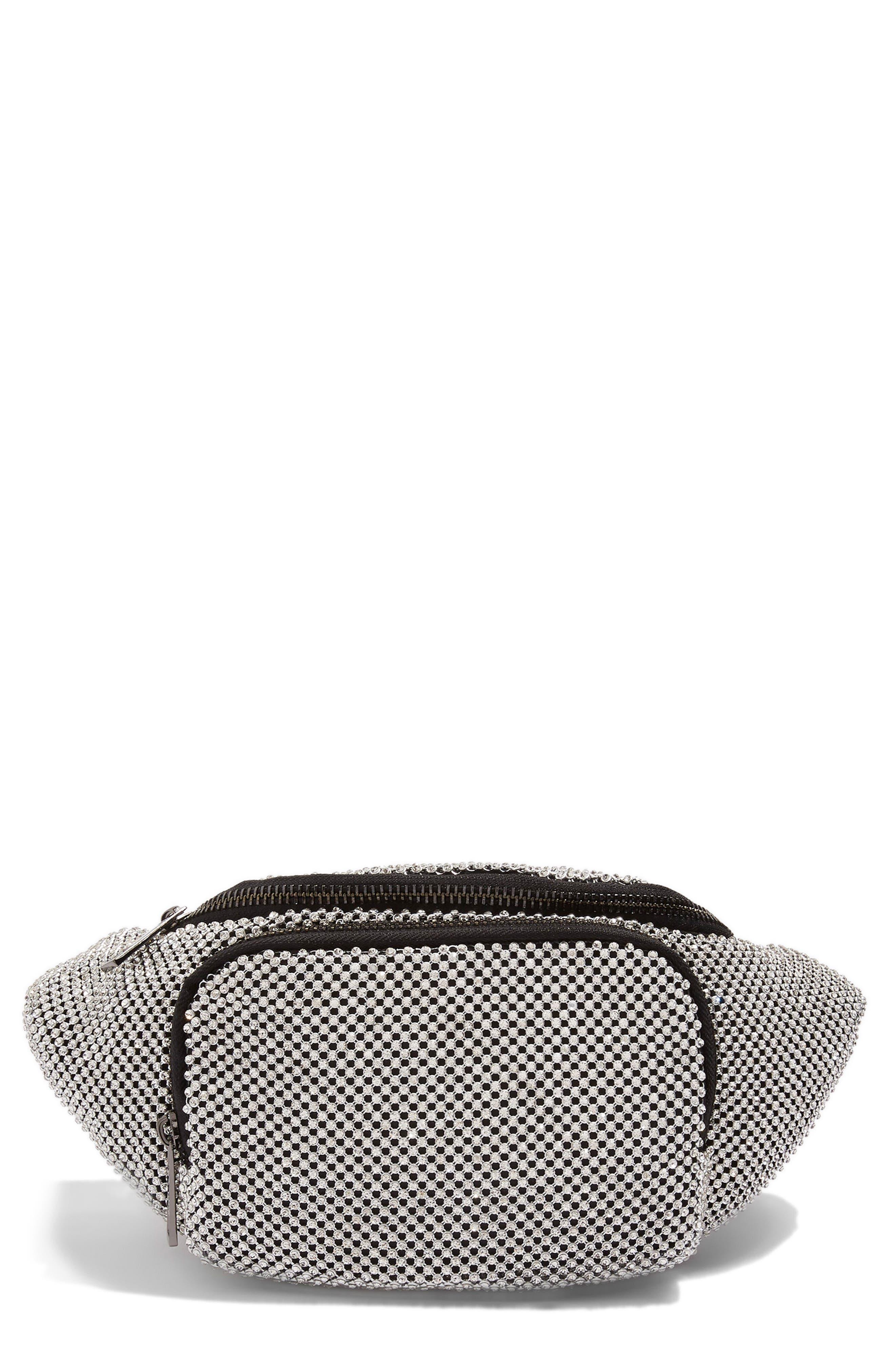 Diana Diamante Chainmail Bum Bag,                         Main,                         color,