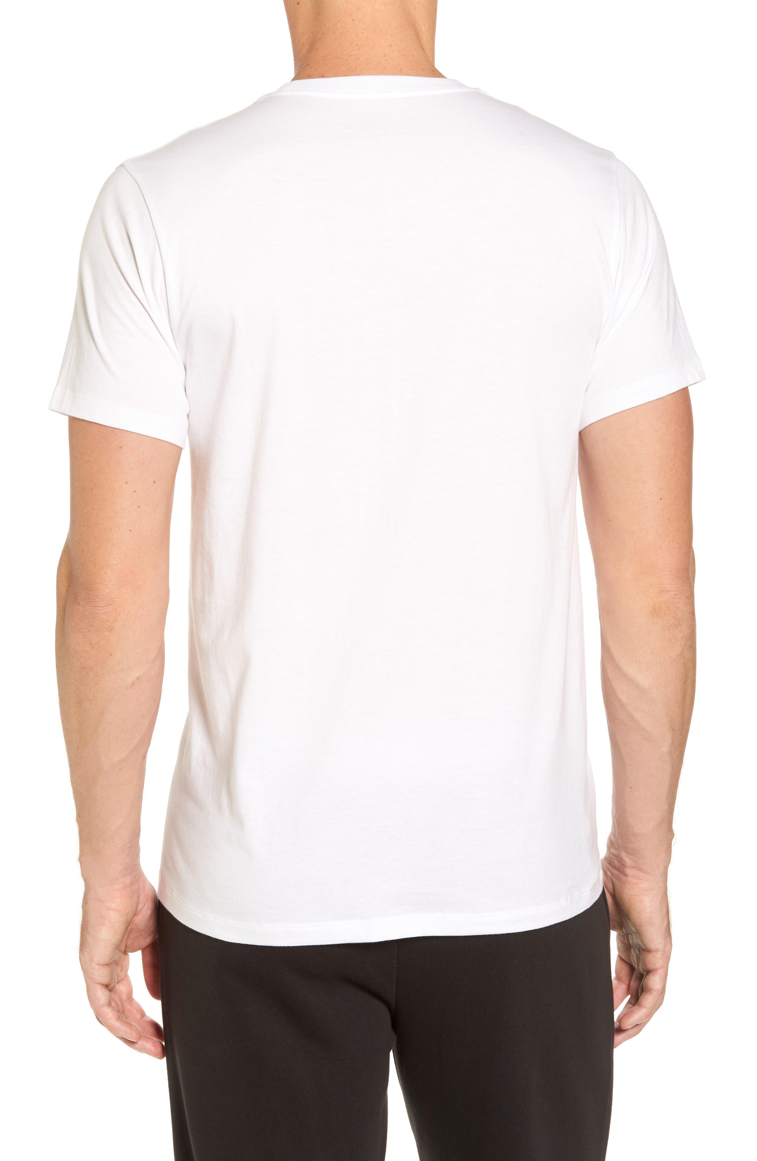 Cotton Class 4-Pack Crewneck T-Shirt,                             Alternate thumbnail 2, color,                             WHITE