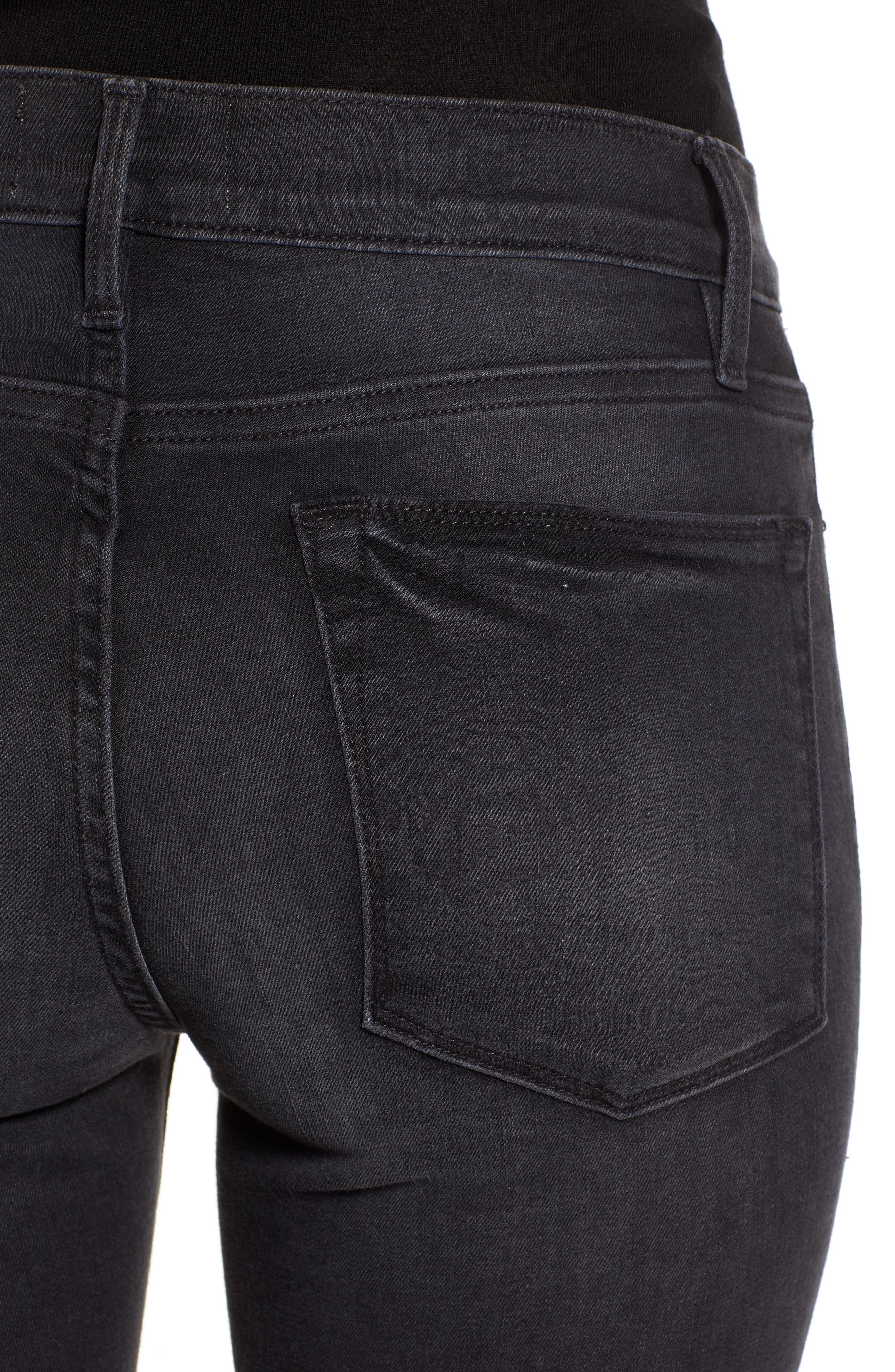 Le High Skinny Jeans,                             Alternate thumbnail 4, color,                             NIGHTFALL
