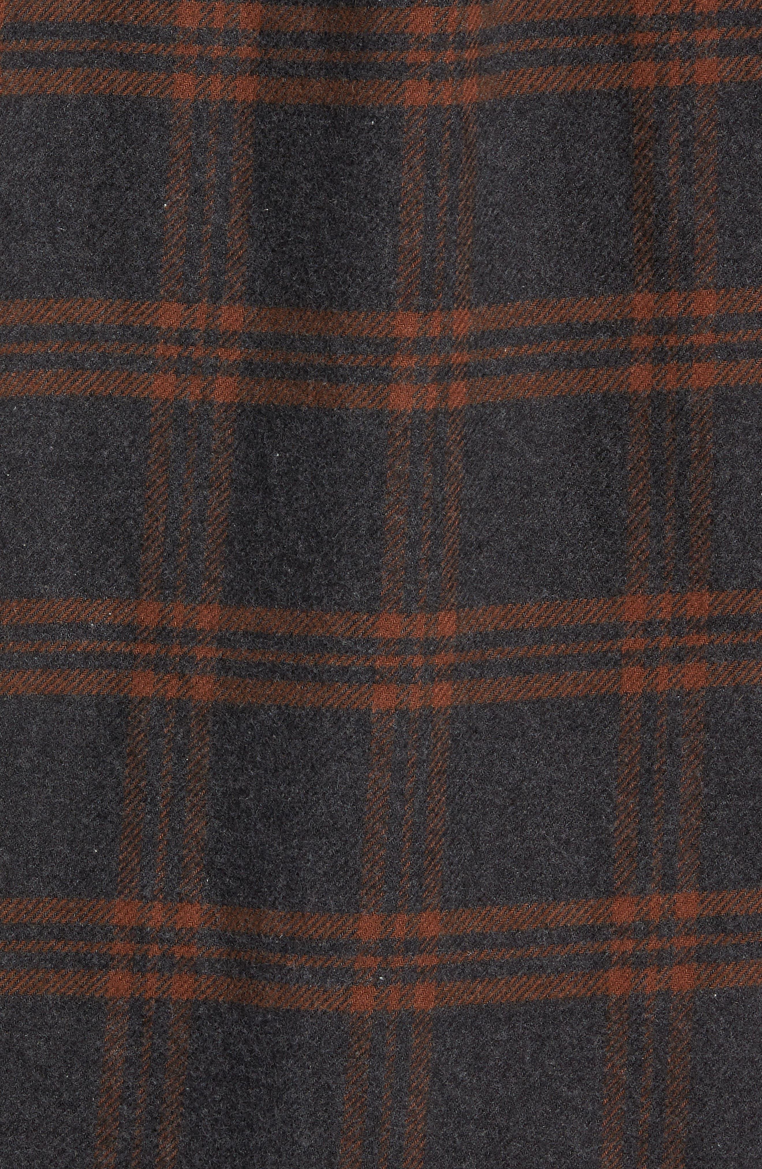 BILLY REID,                             Plaid Cotton Flannel Shirt,                             Alternate thumbnail 5, color,                             020