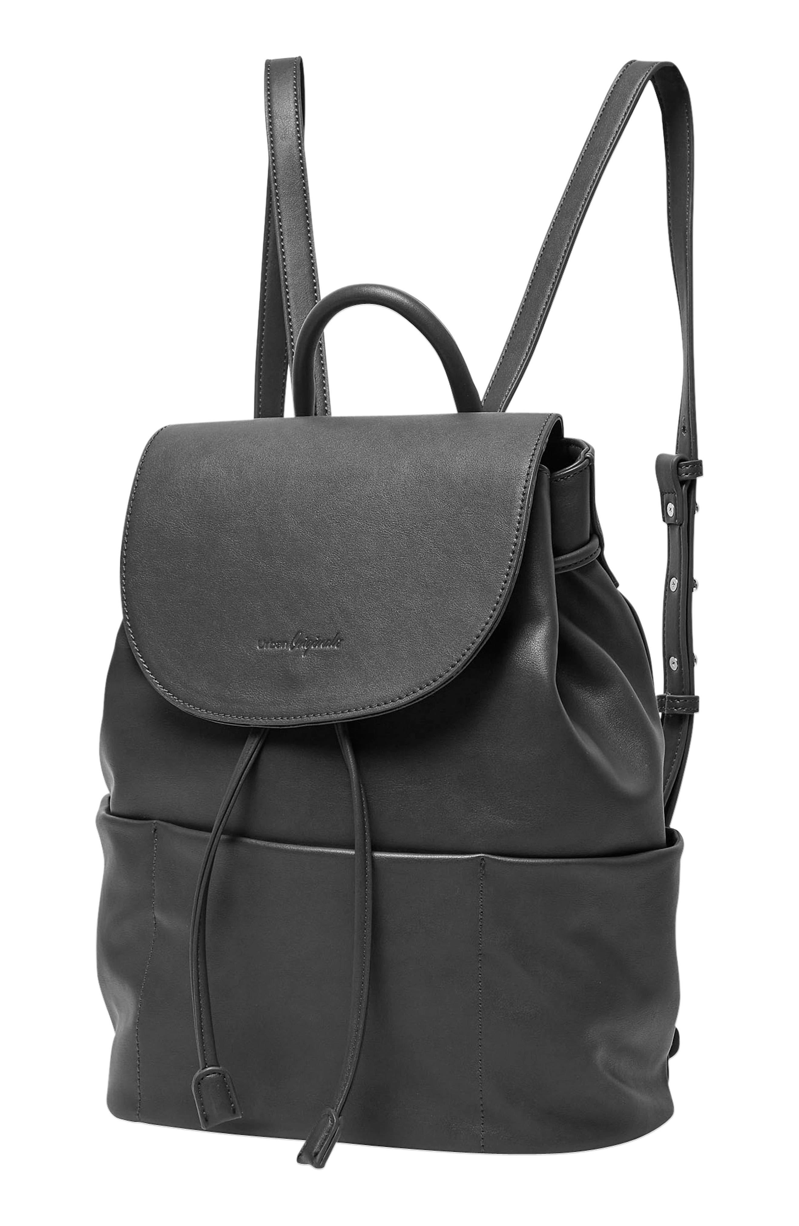 Splendour Vegan Leather Backpack,                             Alternate thumbnail 3, color,                             002
