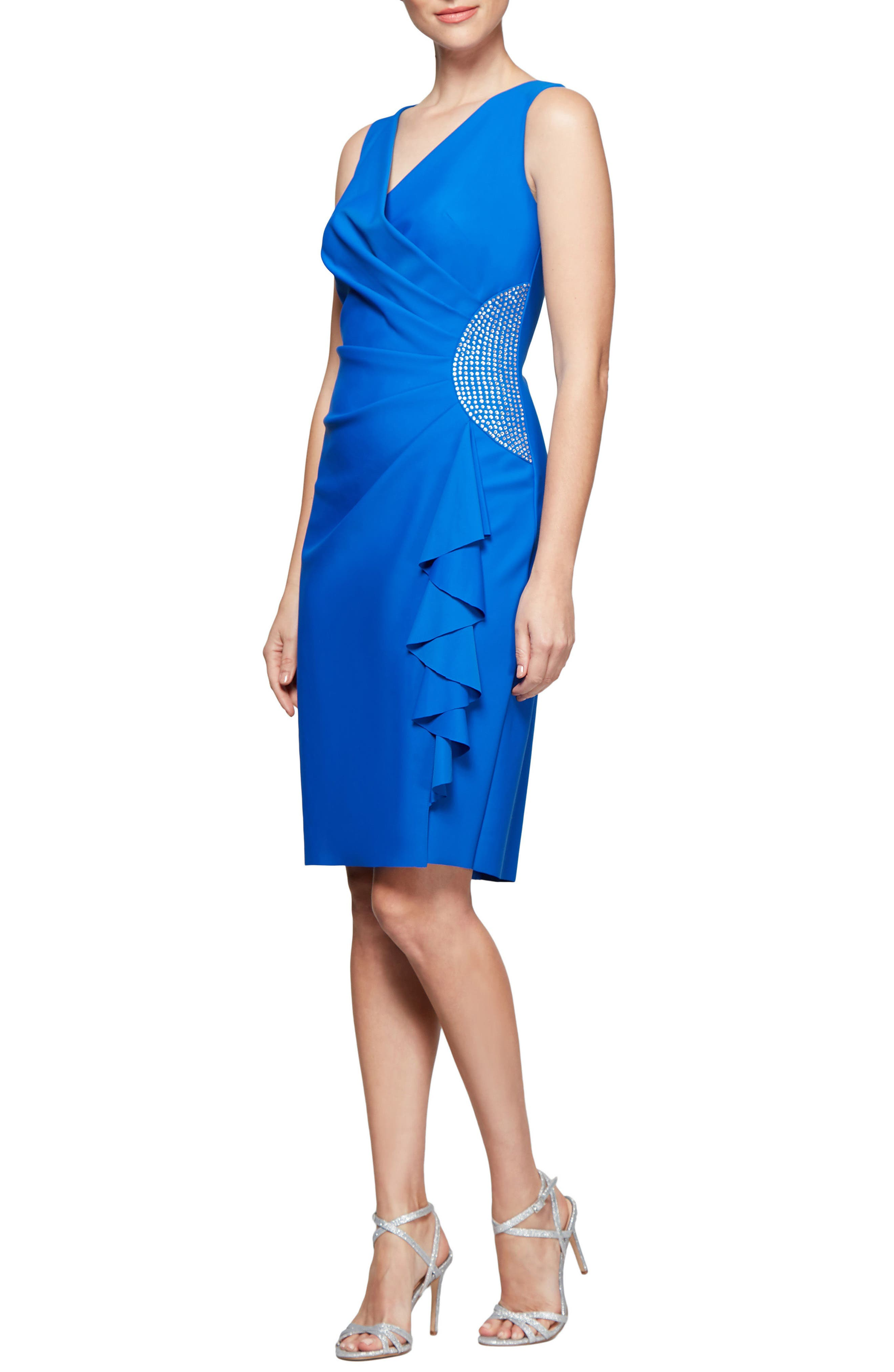 Surplice Neckline Sheath Dress,                         Main,                         color, 430