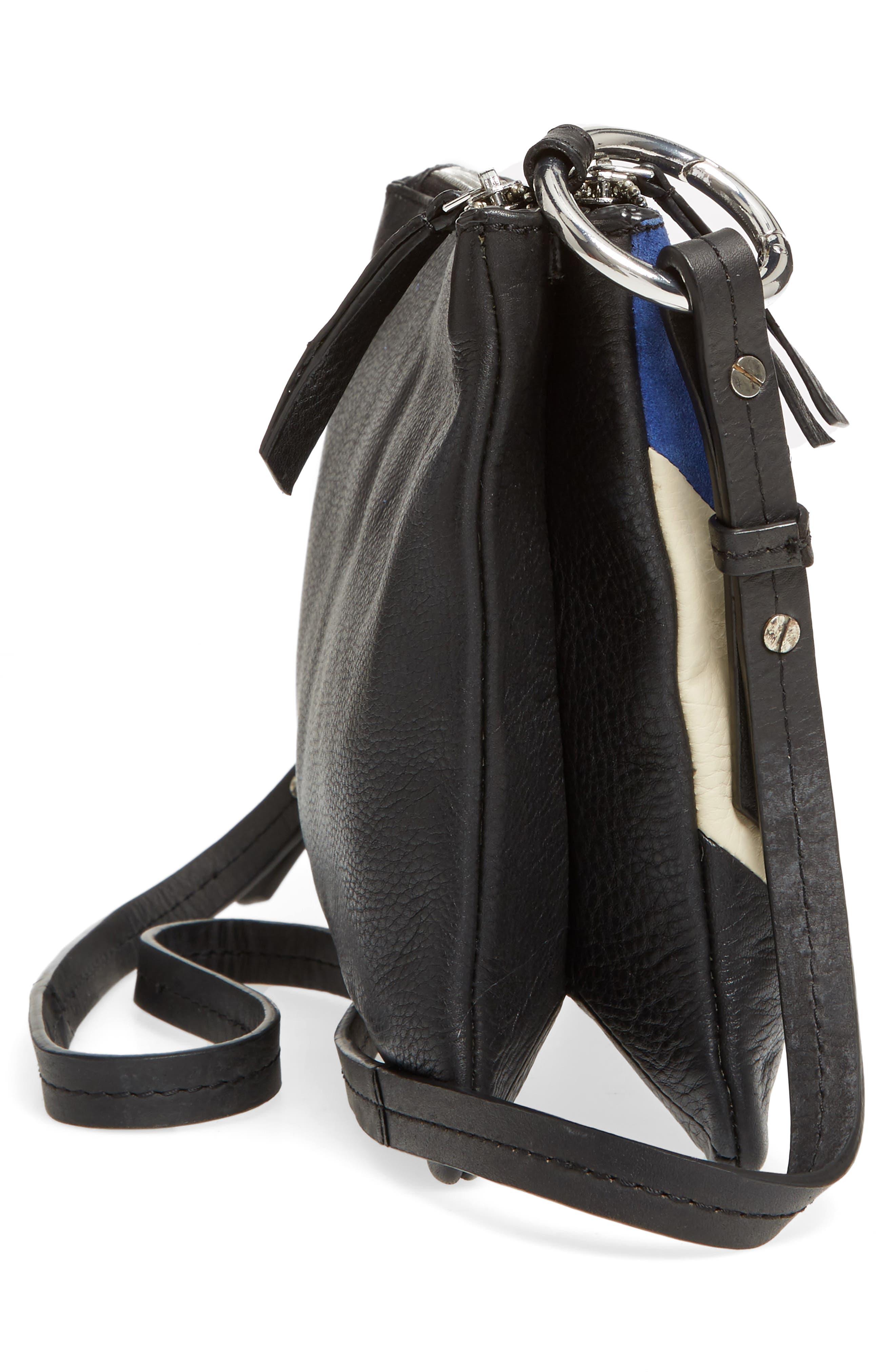 Premium Leather Bridget Crossbody Bag,                             Alternate thumbnail 5, color,                             001
