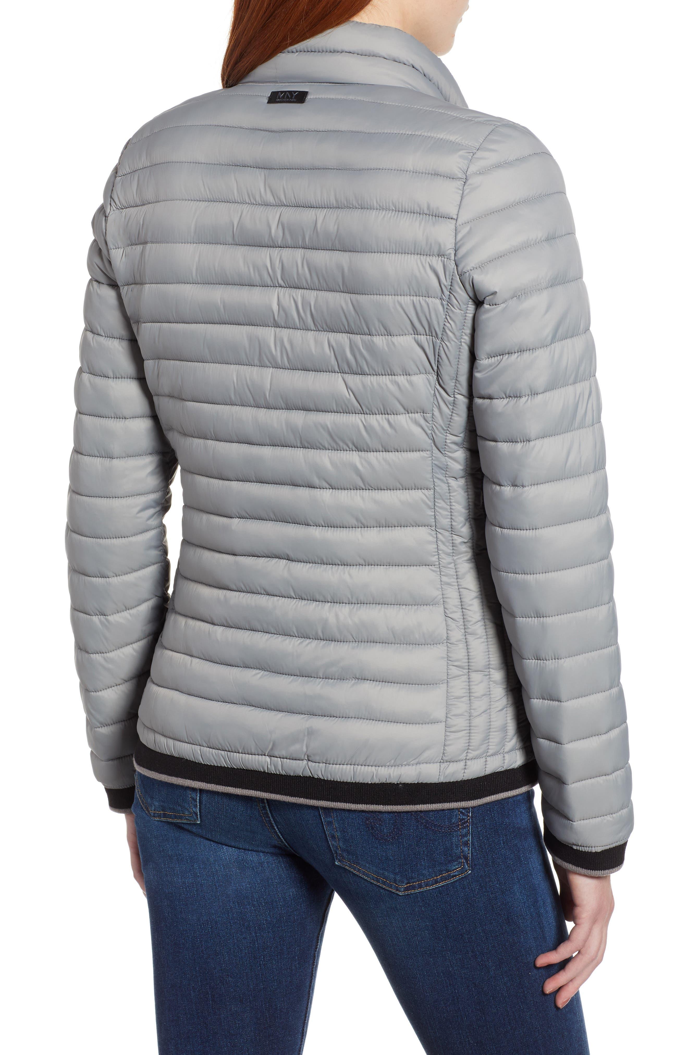 Stripe Trim Packable Down Jacket,                             Alternate thumbnail 2, color,                             STERLING