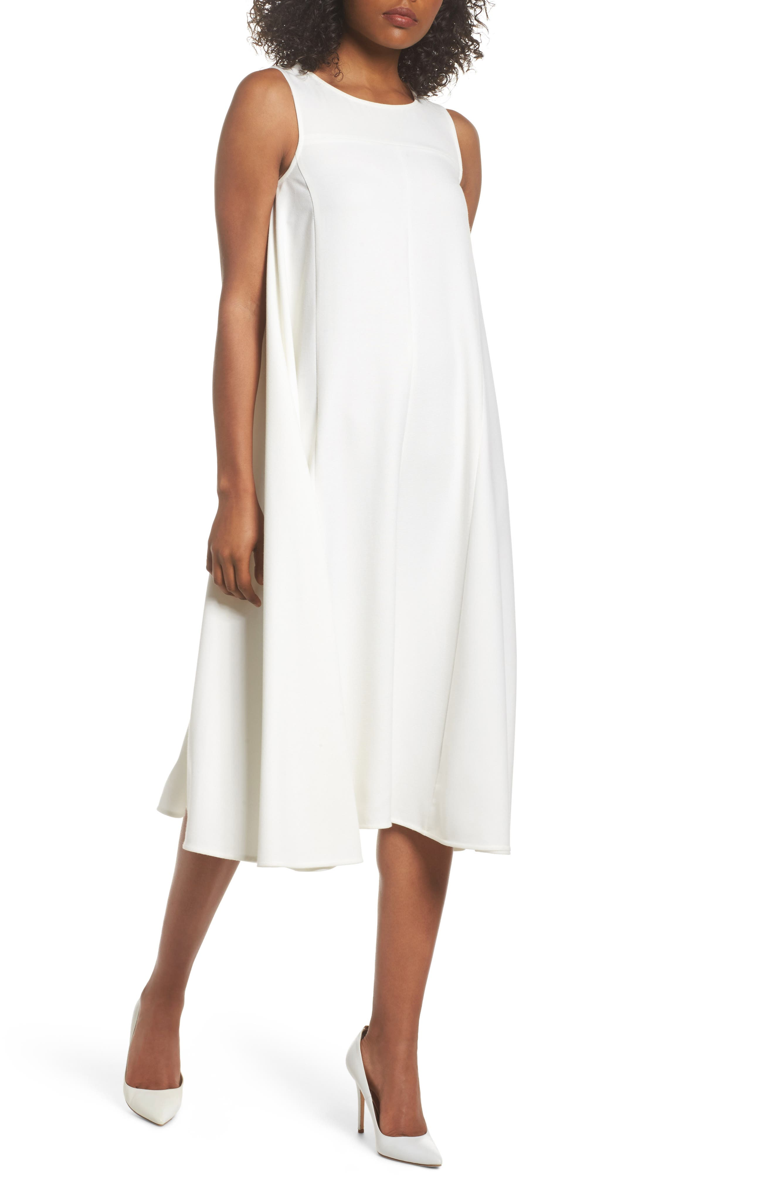 Sunday Brunch Sleeveless Midi Dress,                         Main,                         color, 100