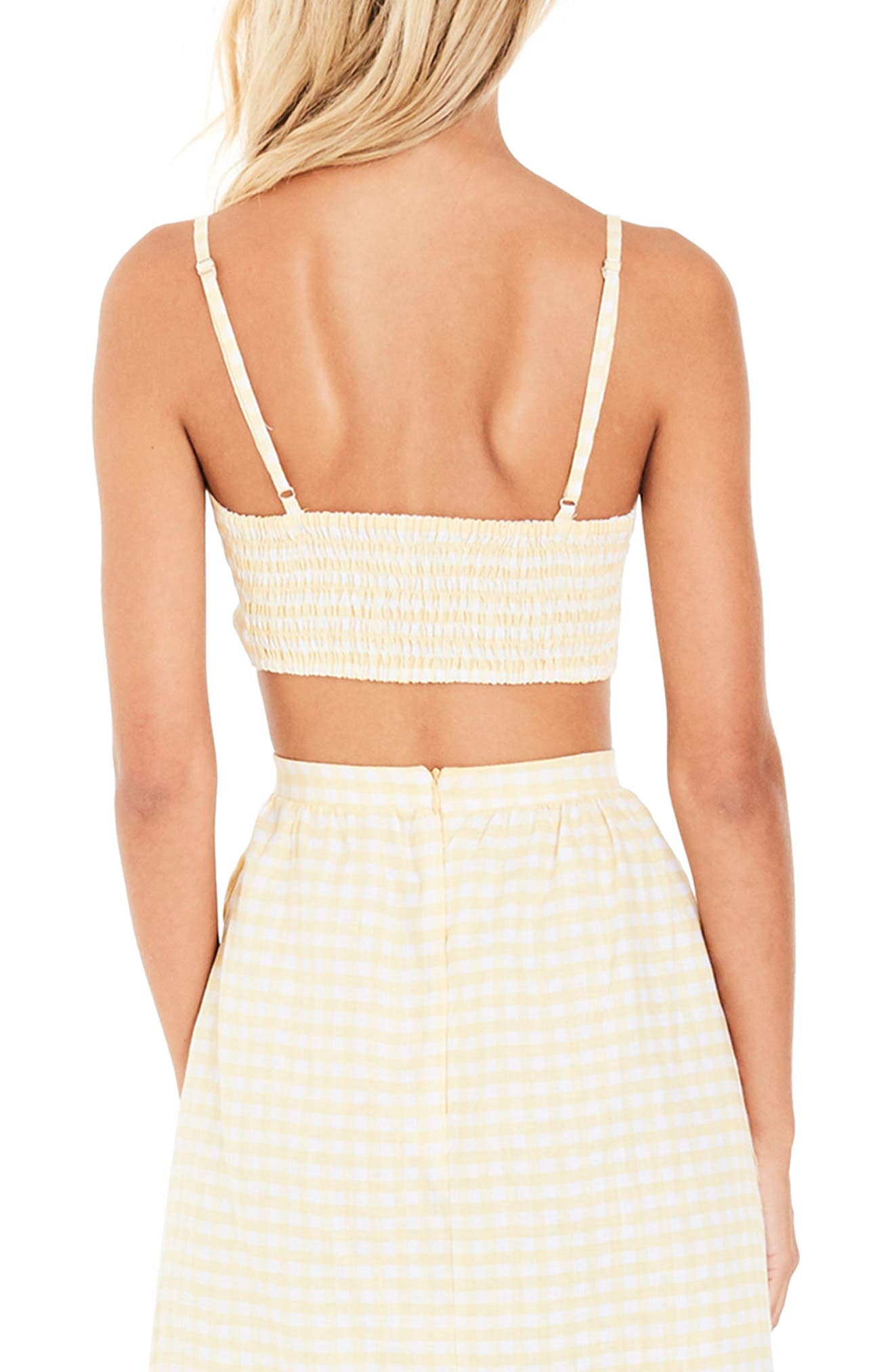 Garnier Gingham Knot Front Top,                             Alternate thumbnail 2, color,                             700