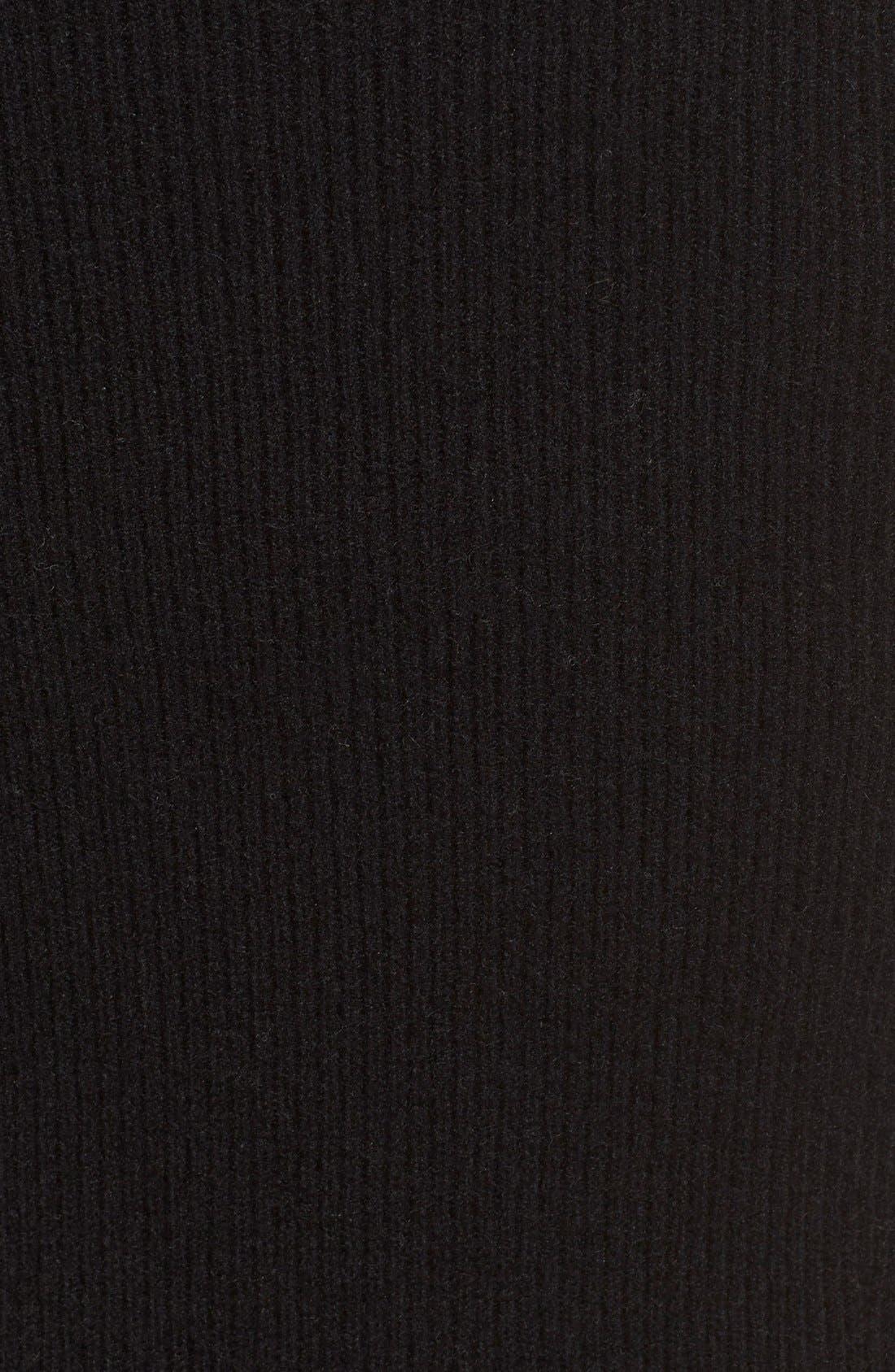 Donna KaranCollection MidweightCashmere Rib Tank Dress,                             Alternate thumbnail 6, color,                             001