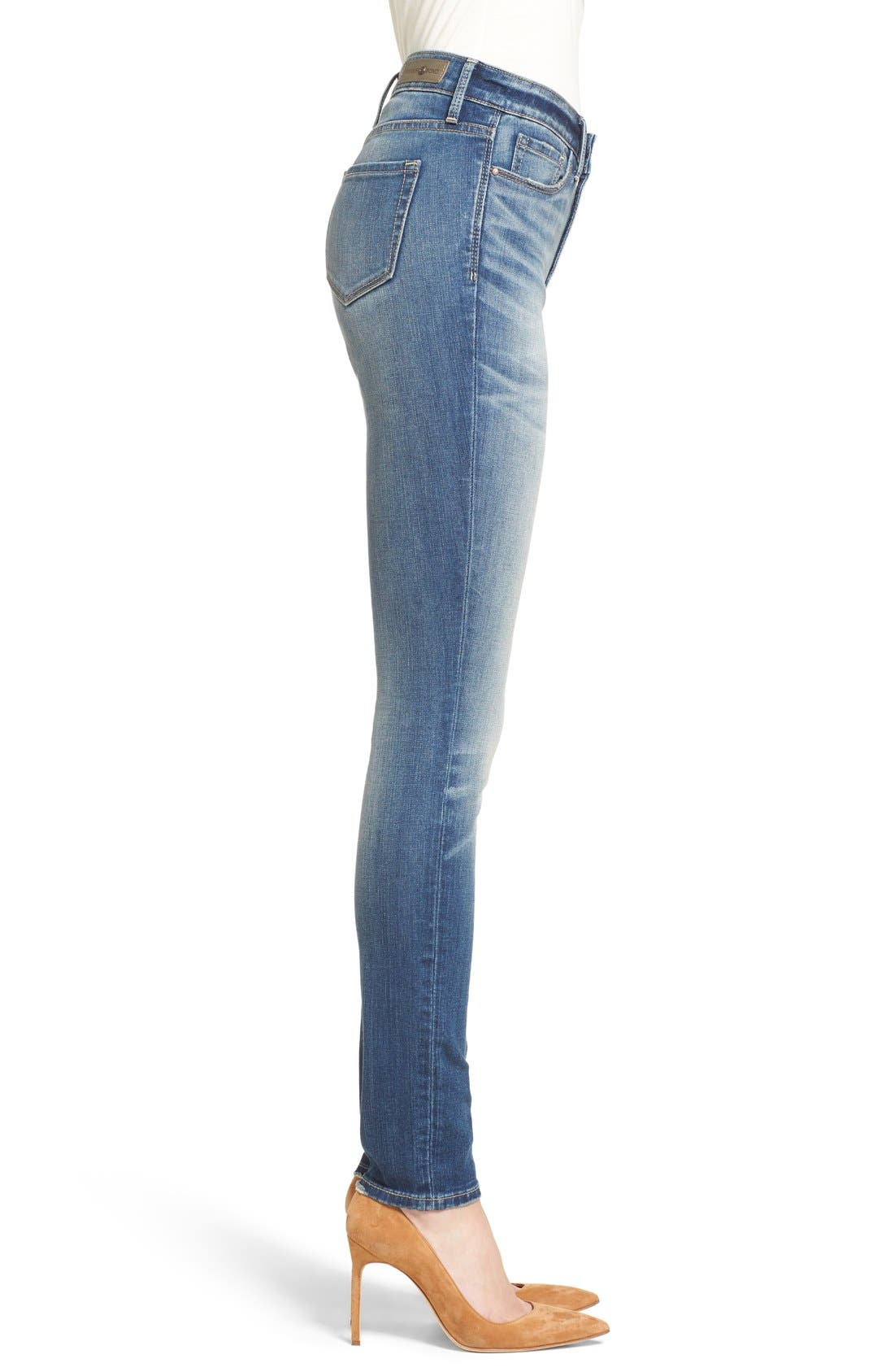 High Waist Skinny Jeans,                             Alternate thumbnail 12, color,                             400