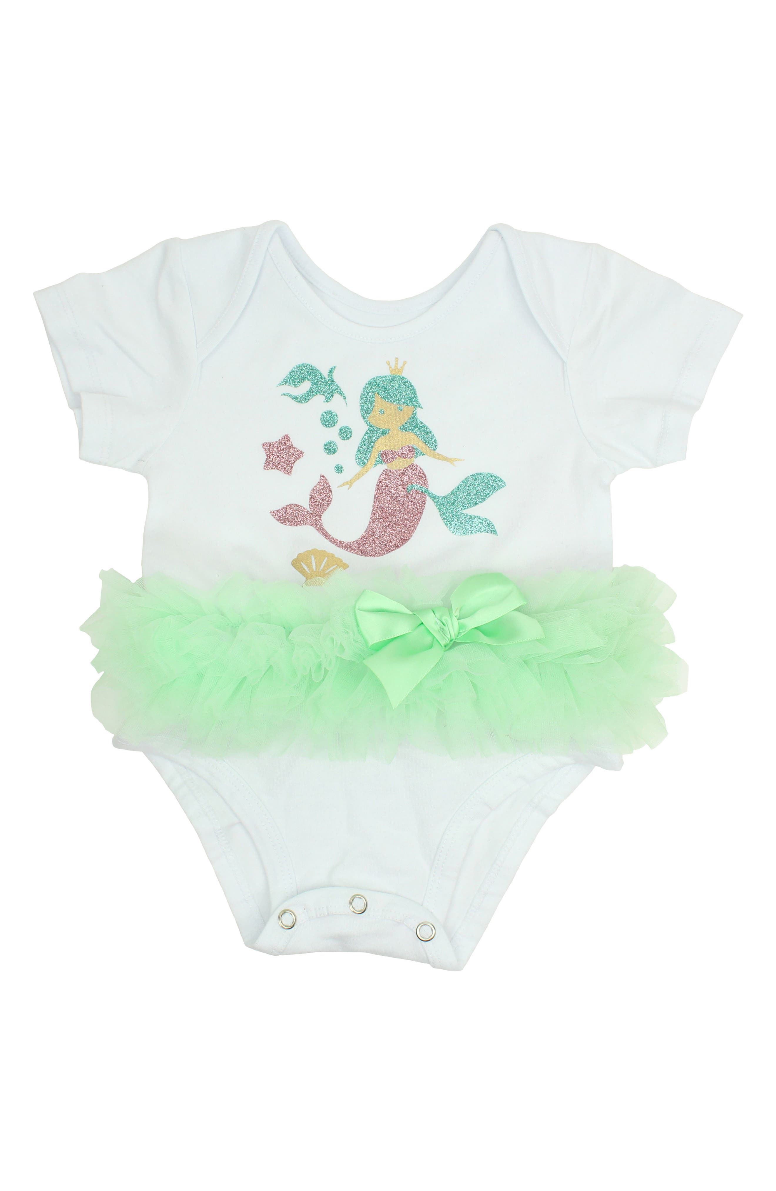 Mermaid Tutu Bodysuit,                             Main thumbnail 1, color,
