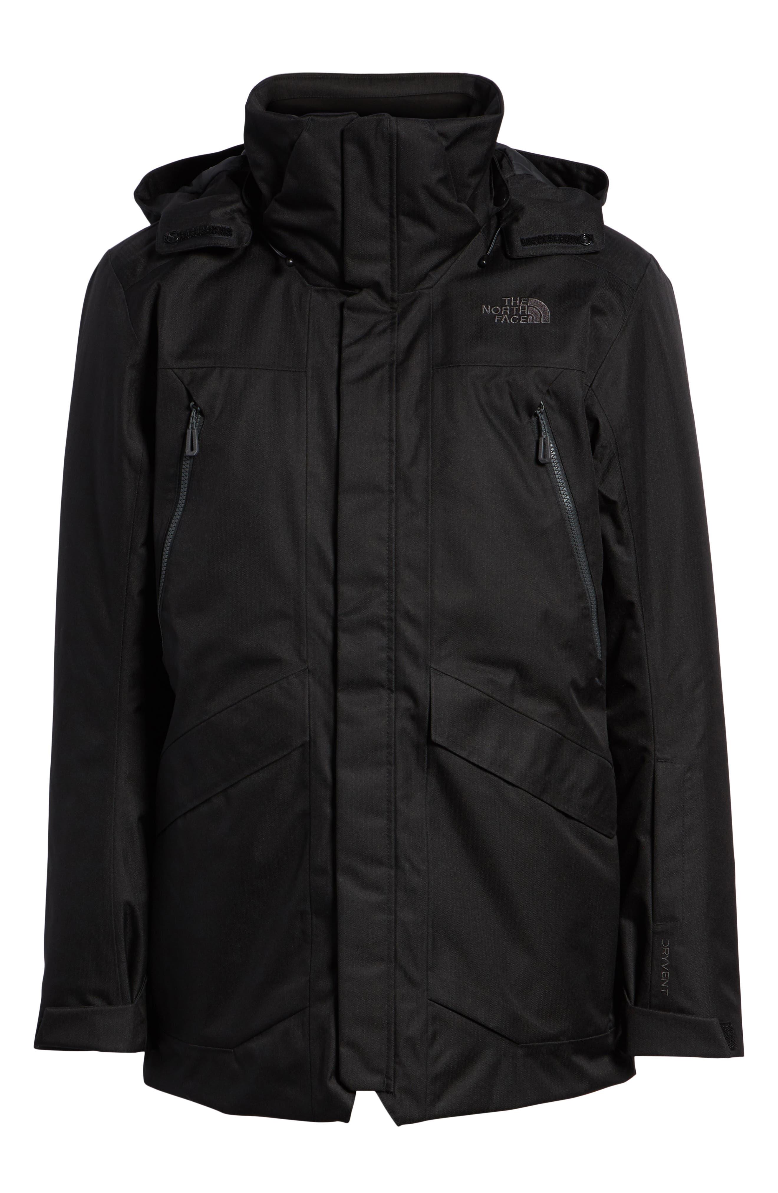 Gatekeeper Waterproof Jacket,                             Alternate thumbnail 6, color,                             TNF BLACK/TNF BLACK