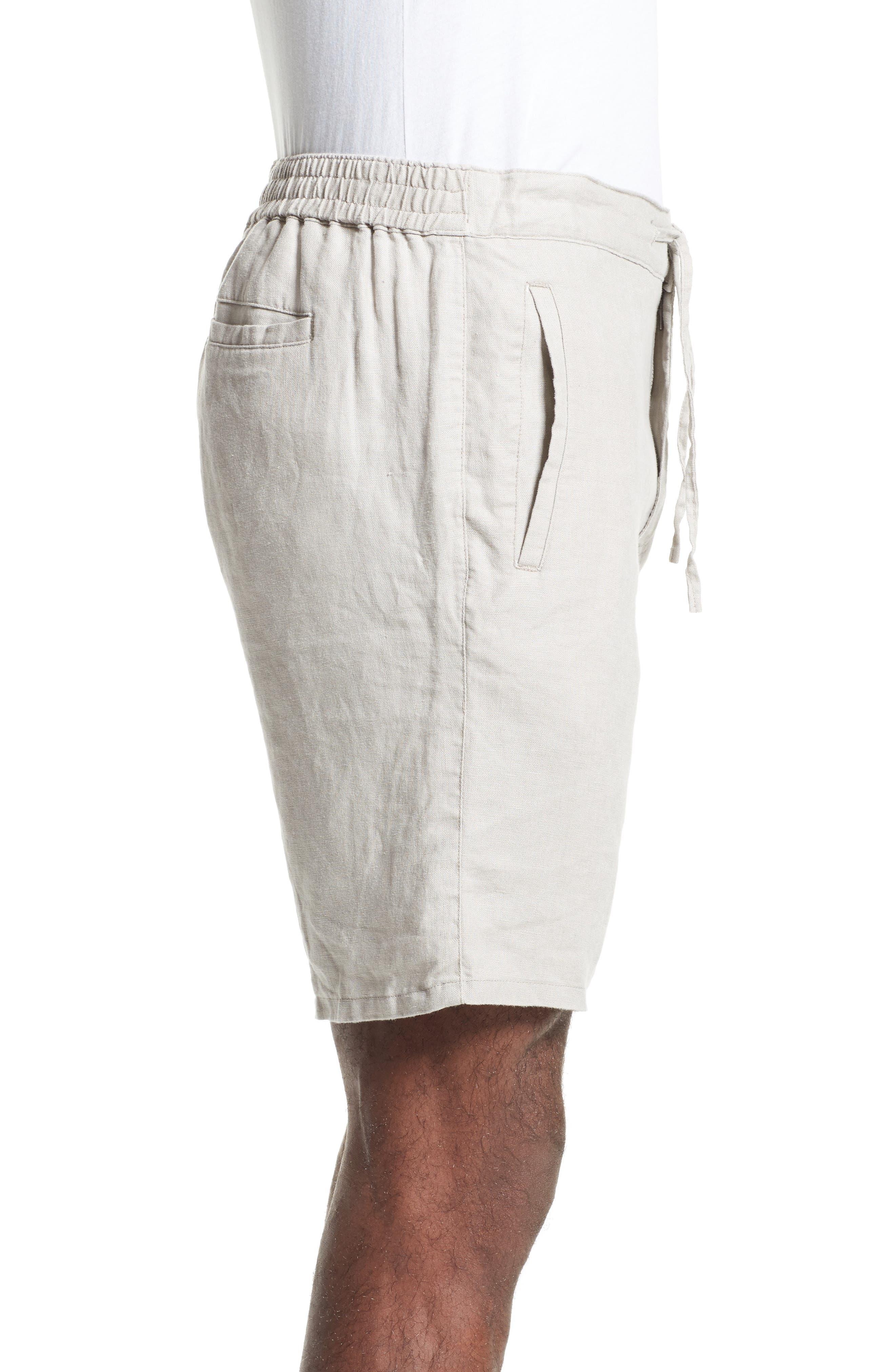Max Linen Shorts,                             Alternate thumbnail 3, color,                             DUNE
