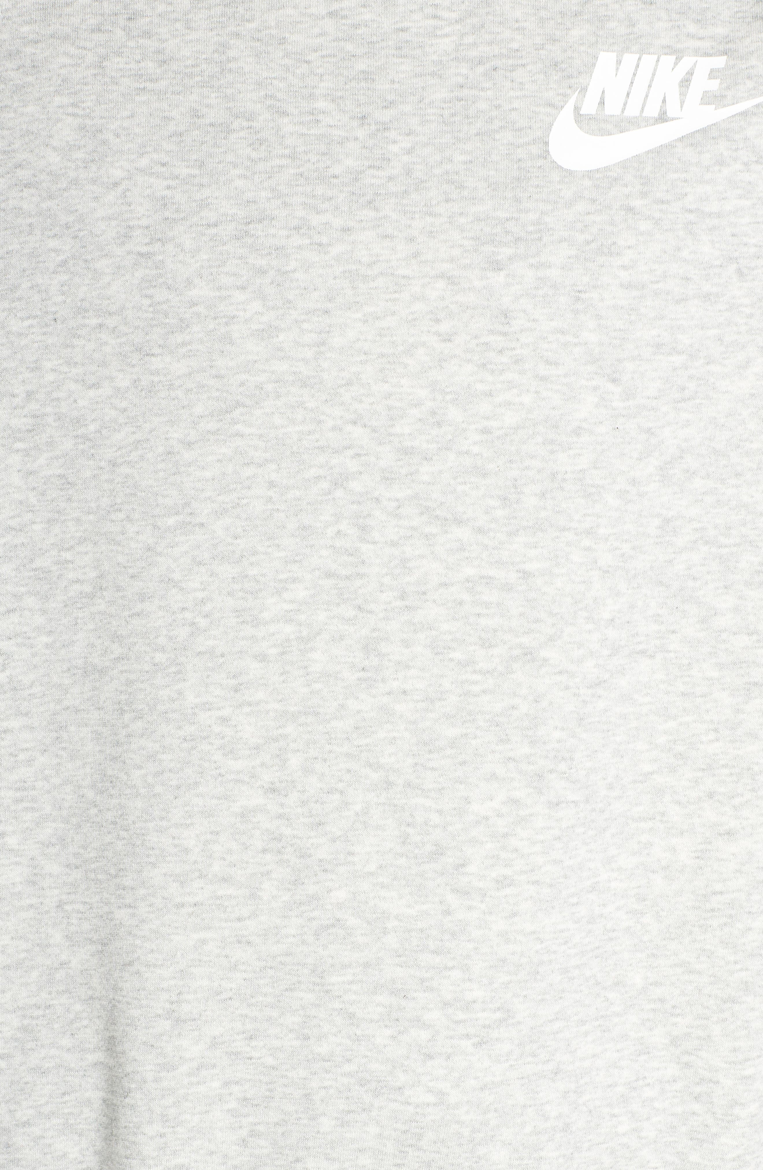 Sportswear Rally Sweatshirt,                             Alternate thumbnail 6, color,                             GREY HEATHER/ WHITE