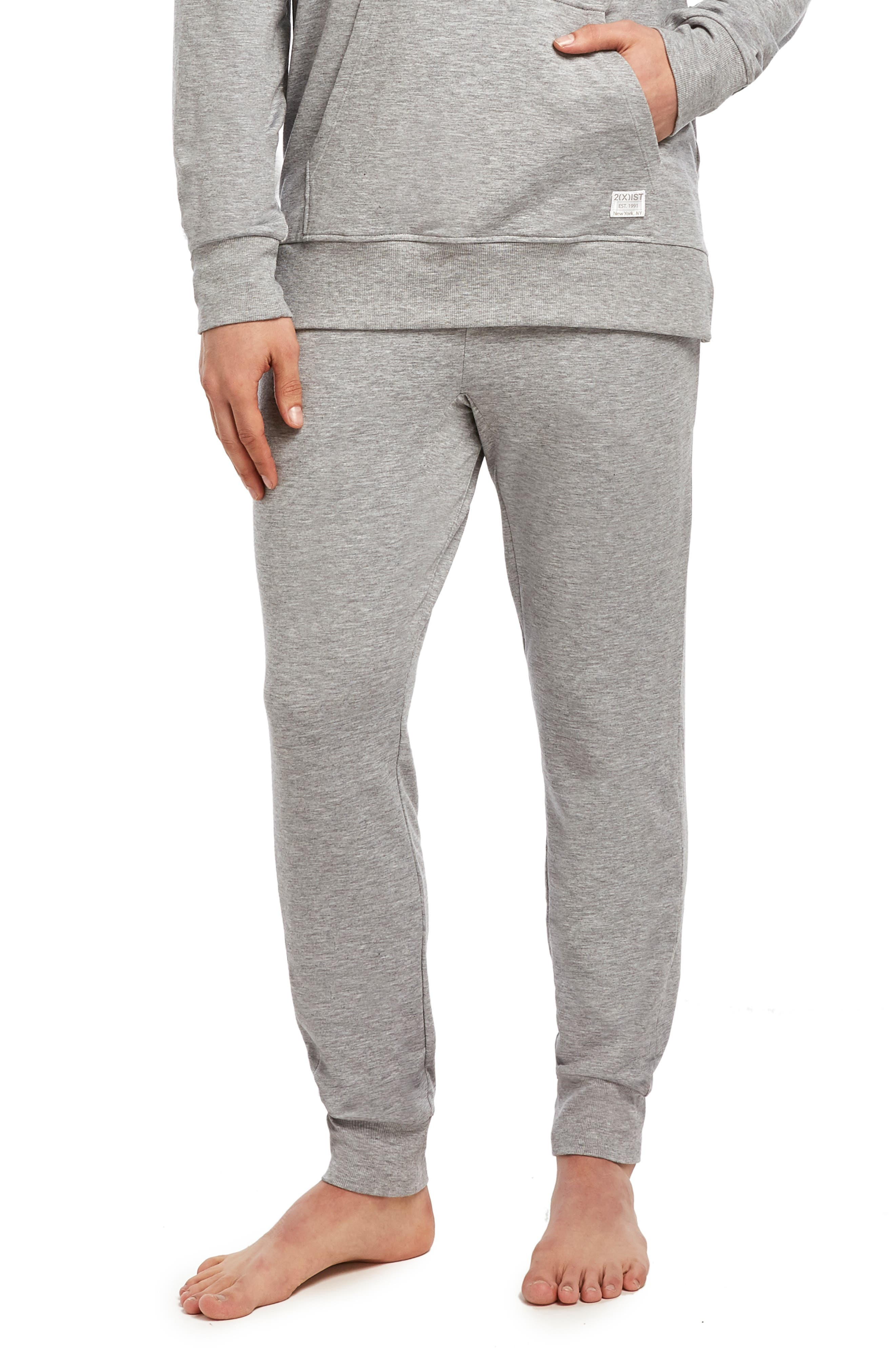 Stretch Jogger Pants, Main, color, HEATHER GREY