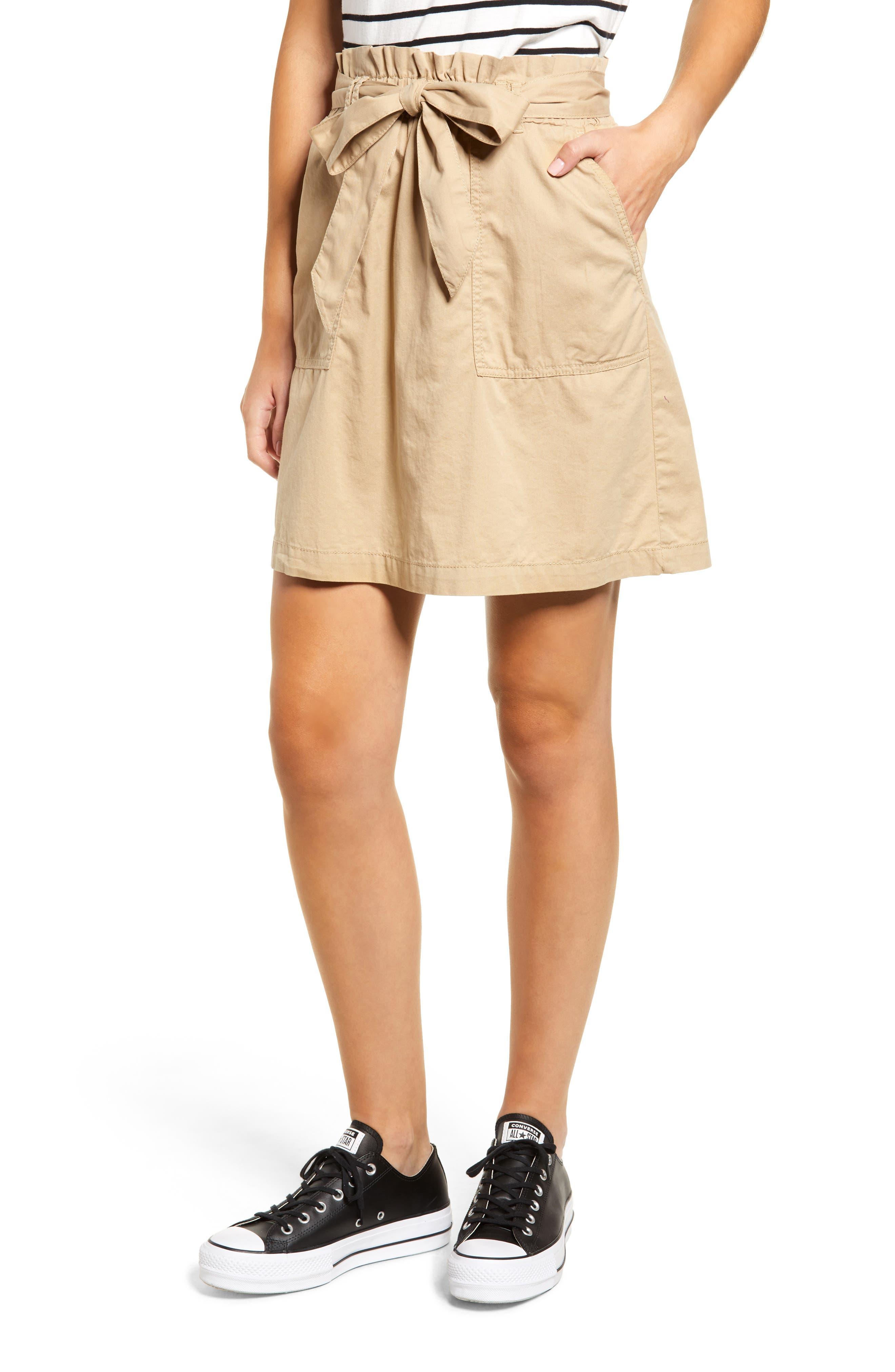 Bp. Paper Bag Waist Skirt