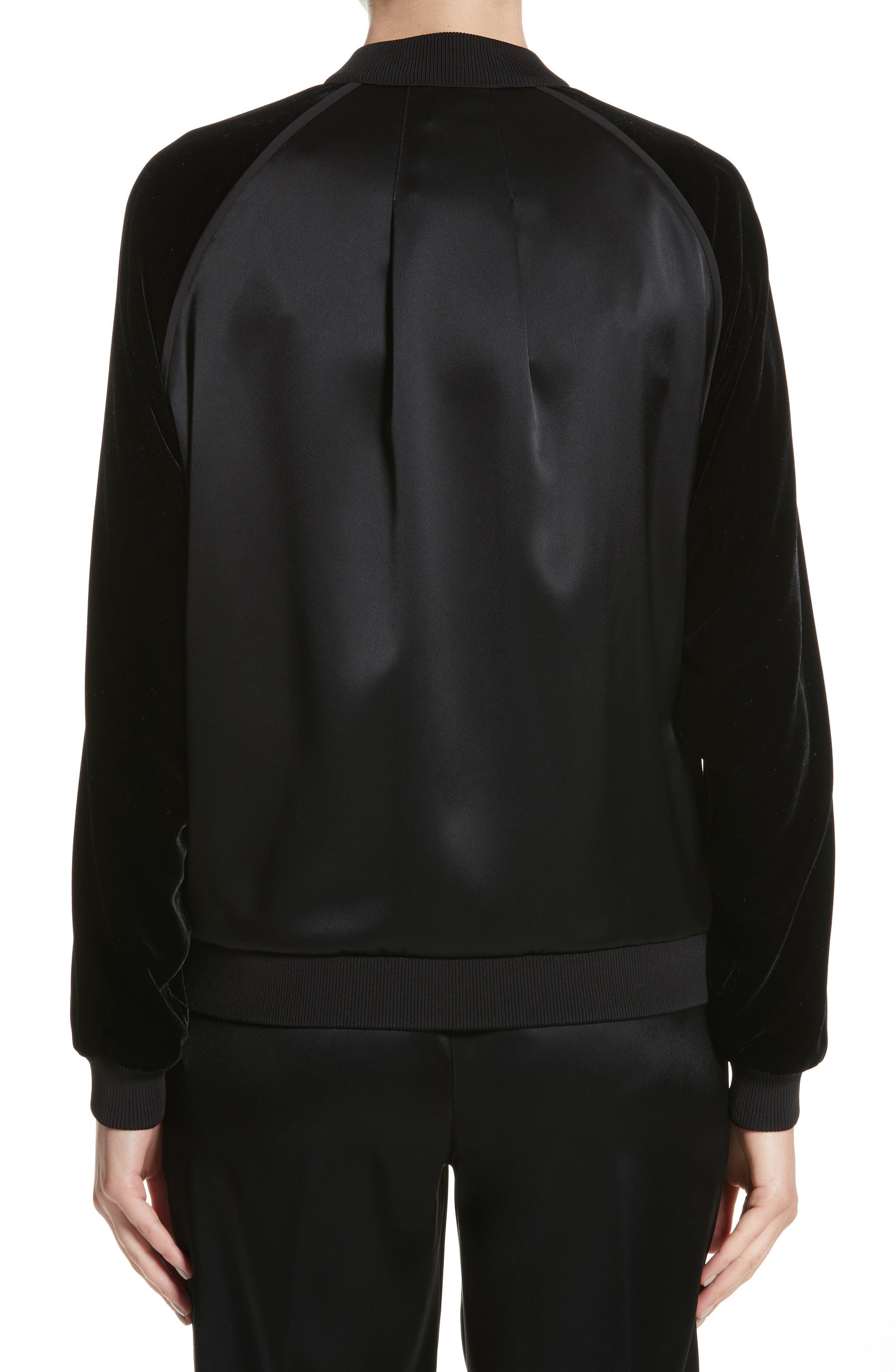 Brea Reverie Satin Cloth Bomber Jacket,                             Alternate thumbnail 2, color,                             001