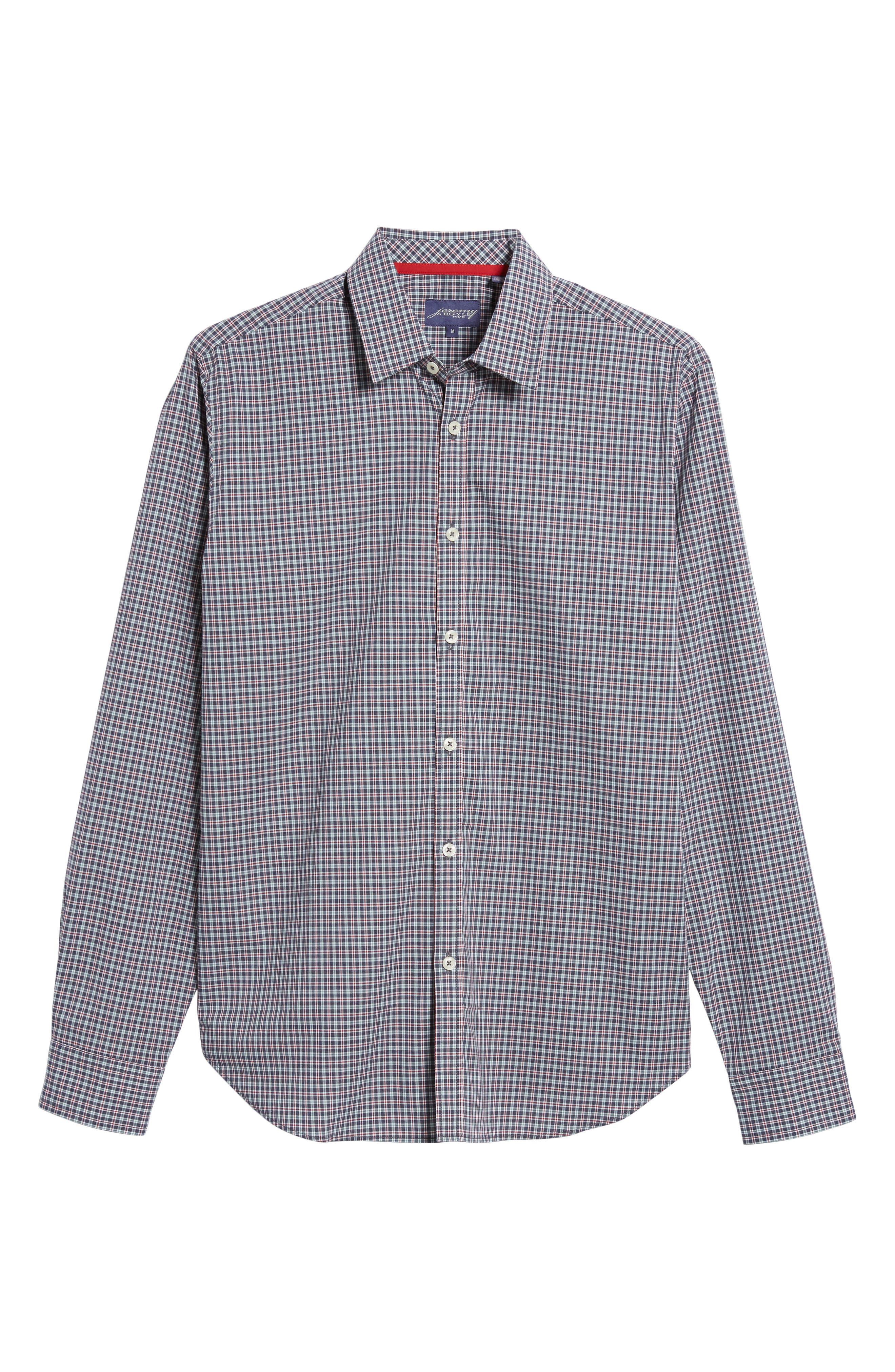 Slim Fit Check Sport Shirt,                             Alternate thumbnail 6, color,                             031