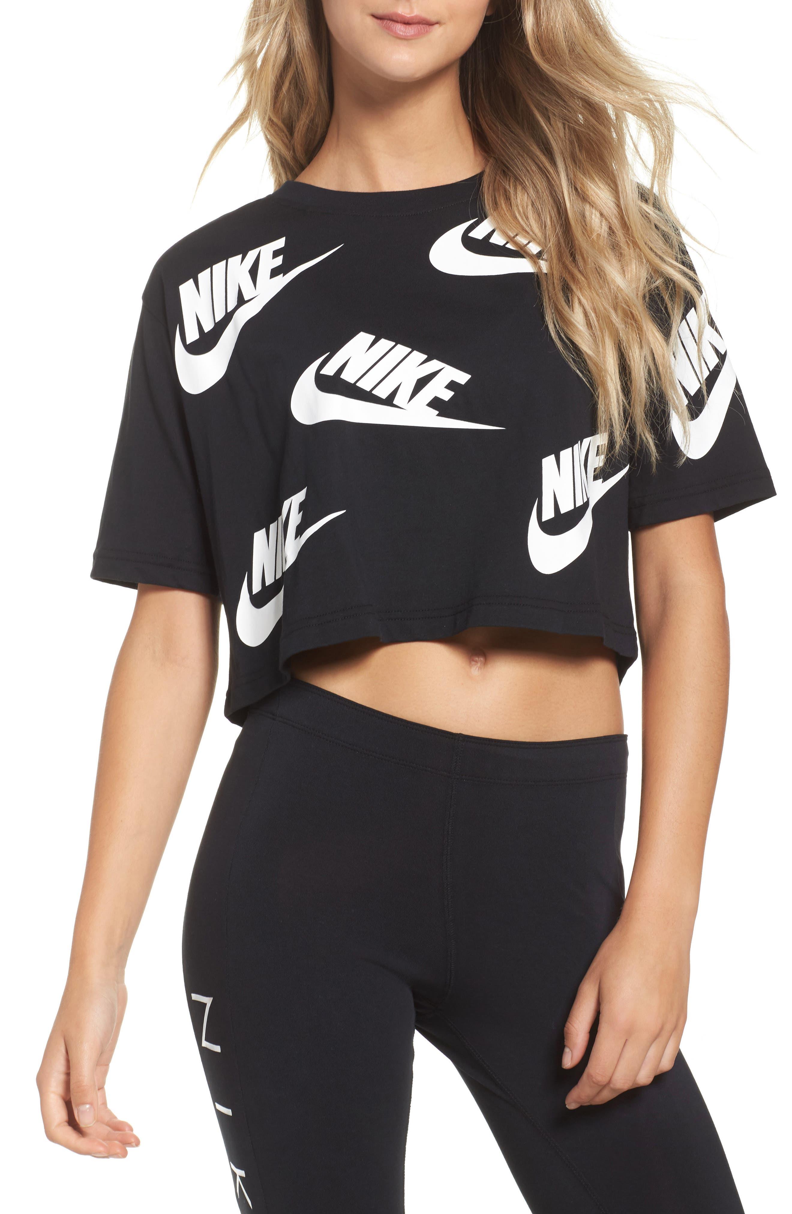 Sportswear Futura Crop Tee,                             Main thumbnail 1, color,                             010