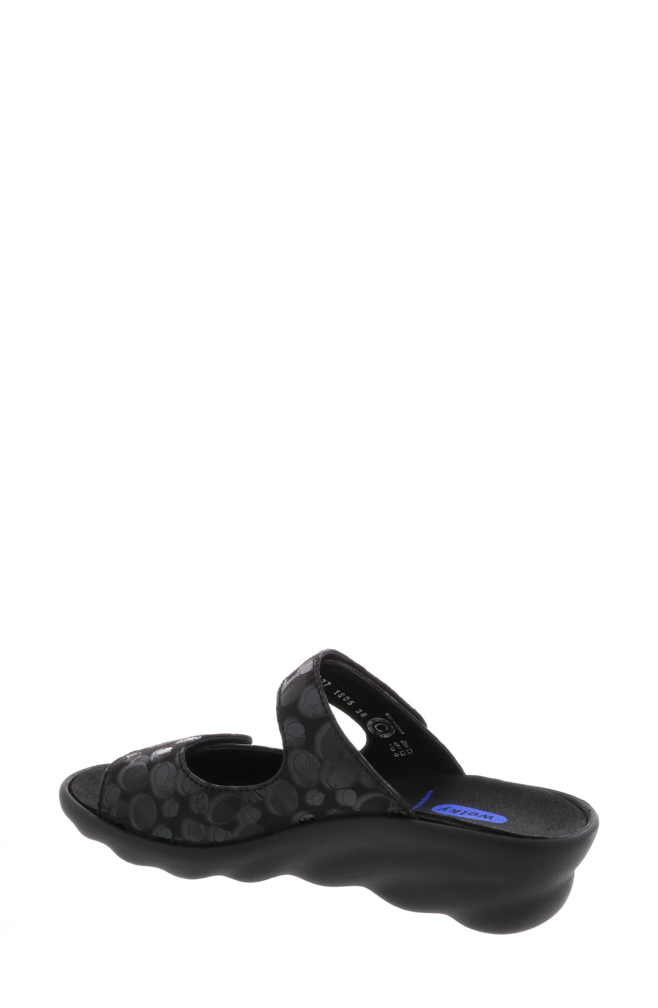 Bolena Slide Sandal,                             Alternate thumbnail 2, color,                             BLACK CIRCLE PRINT