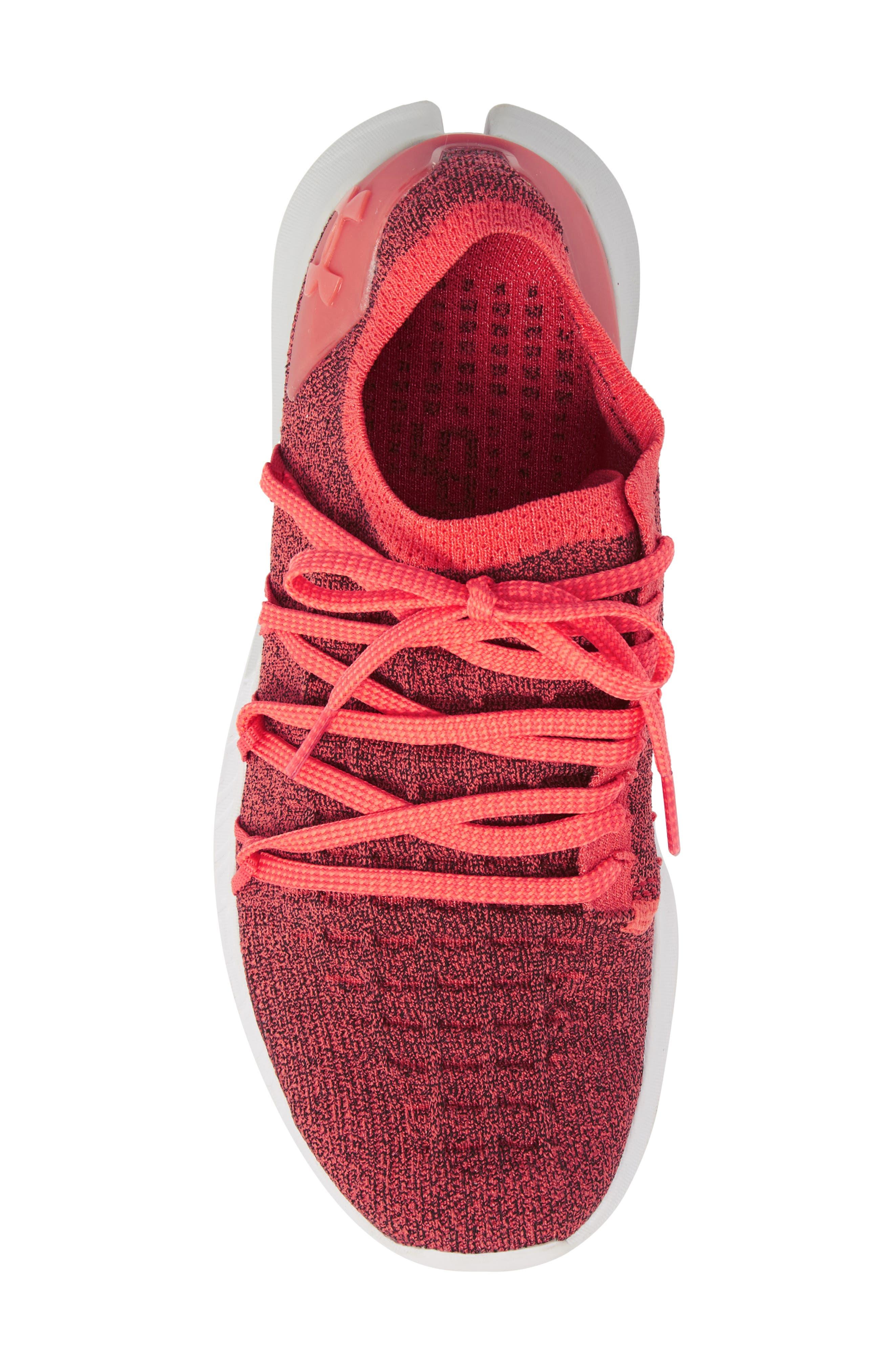 SpeedForm<sup>®</sup> Slingshot 2 Running Shoe,                             Alternate thumbnail 5, color,                             VERMILLION/ BLACK
