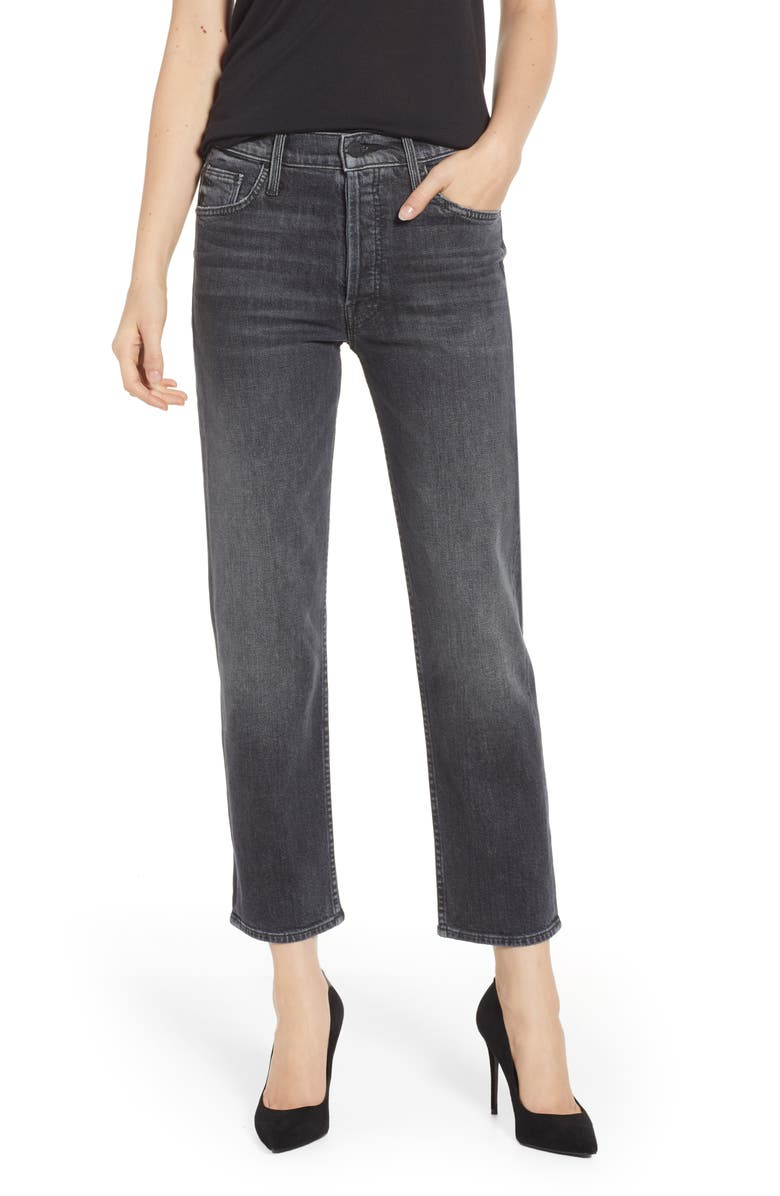 MOTHER THE TOMCAT CROP STRAIGHT LEG JEANS