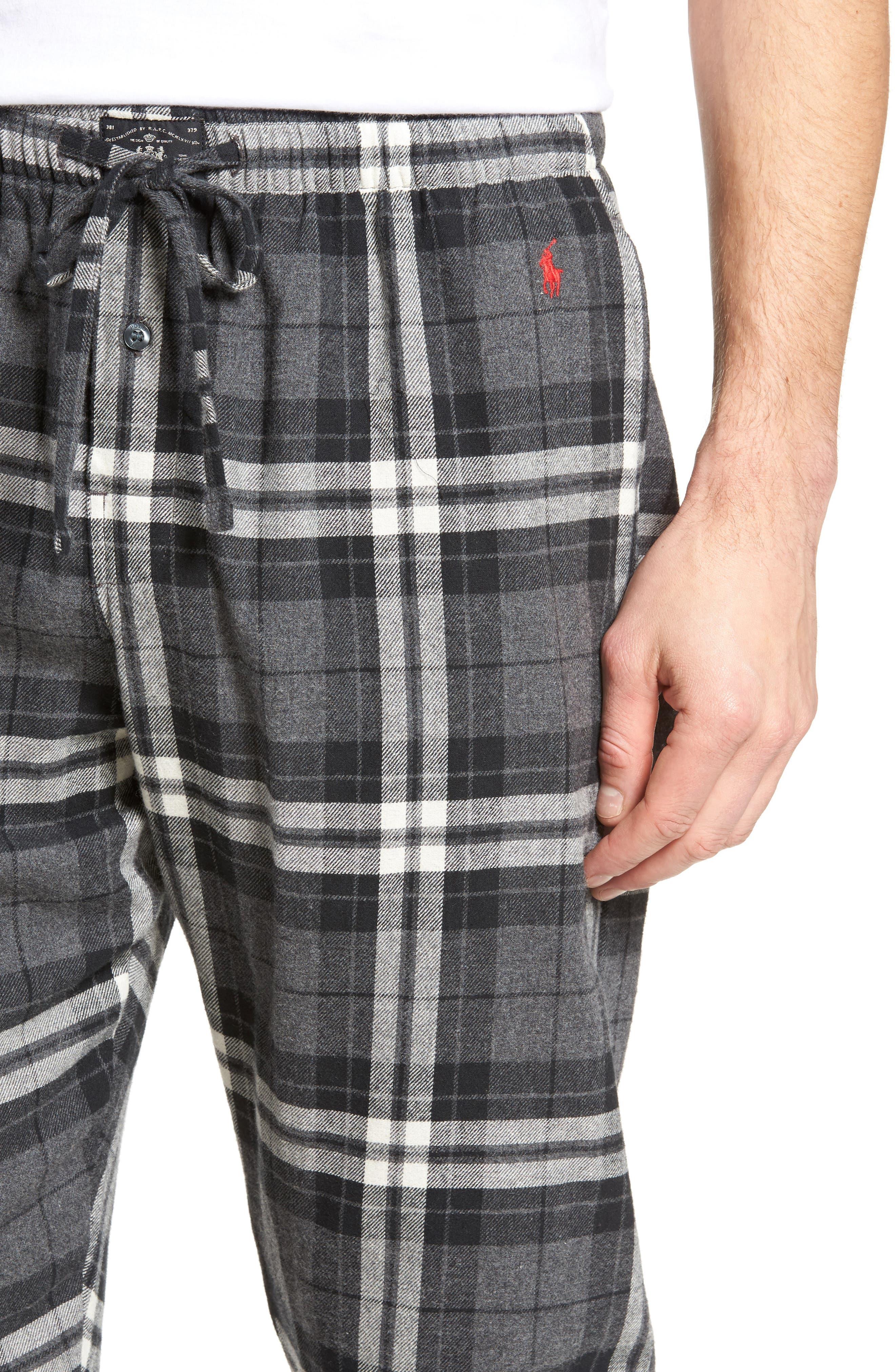 Flannel Pajama Jogger Pants,                             Alternate thumbnail 4, color,                             022