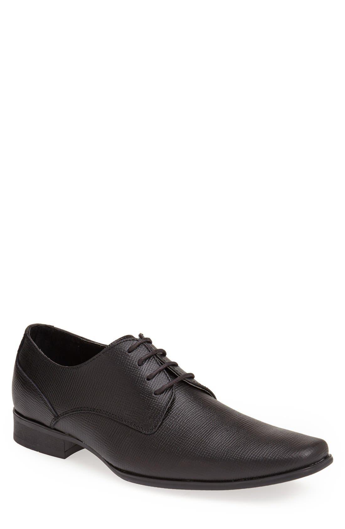 'Brodie' Plain Toe Derby,                         Main,                         color, BLACK